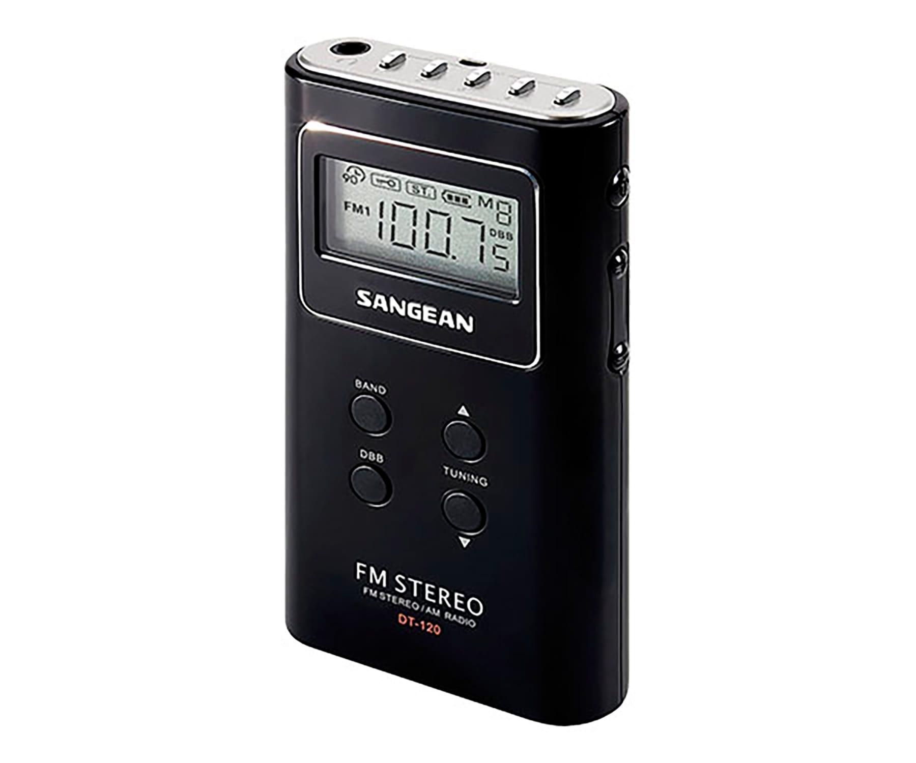 SANGEAN DT-120 NEGRO RADIO PORTÁTIL AM/FM 15 PRESINTONIAS