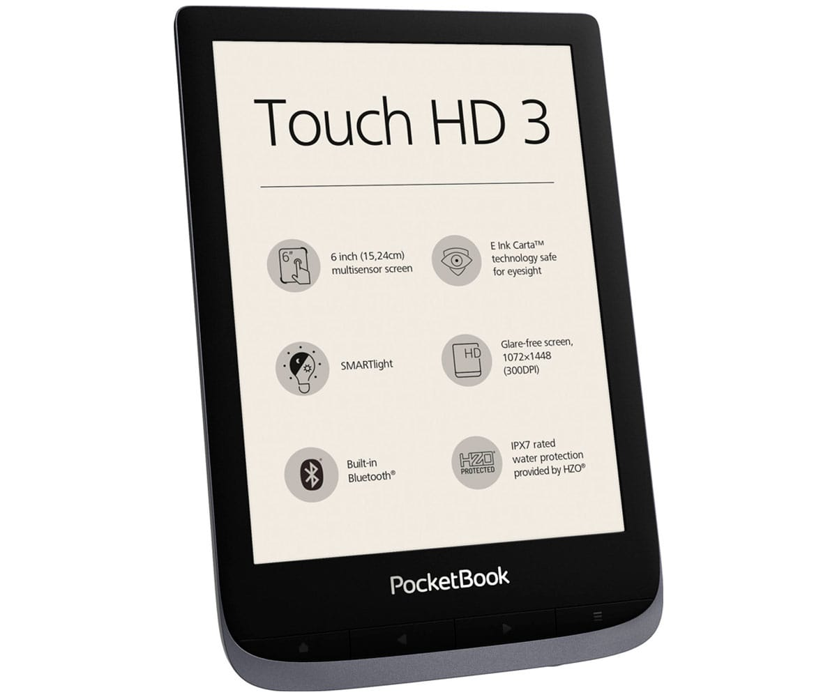 POCKETBOOK TOUCH 3 HD GRIS METÁLICO E-BOOK LIBRO ELECTRÓNICO 6'' E-INK WIFI 16GB