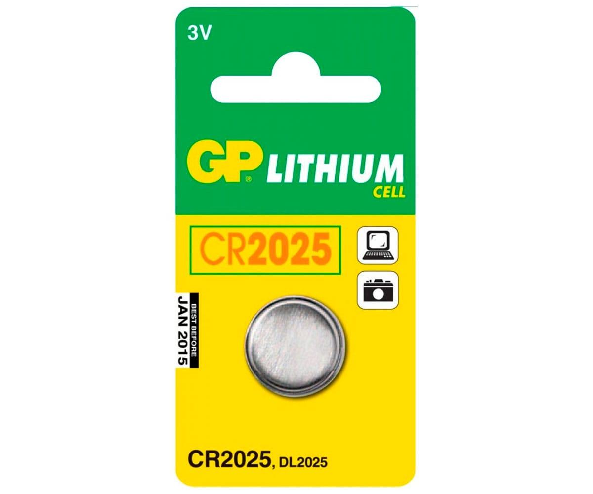 GP PILA LITIO CR2025 3V BLISTER DE 1 UNIDAD