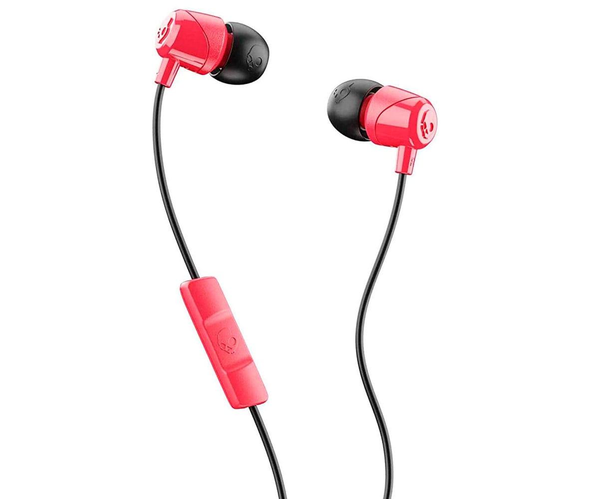 SKULLCANDY JIB RED BLACK AURICULARES DE BOTÓN IN-EAR CON CABLE Y MICRÓFONO
