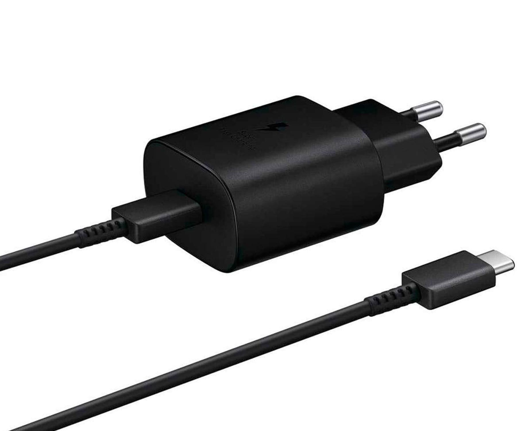 SAMSUNG EP-TA800XBEGWW NEGRO CARGADOR PARED USB SUPER FAST CHARGING 25W