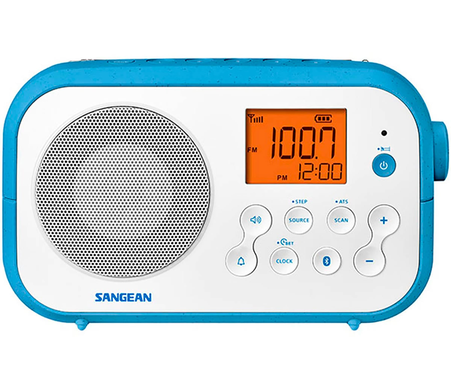 SANGEAN PR-D12BT BLANCO RADIO SOBREMESA FM AM BLUETOOTH PILAS RECARGABLES