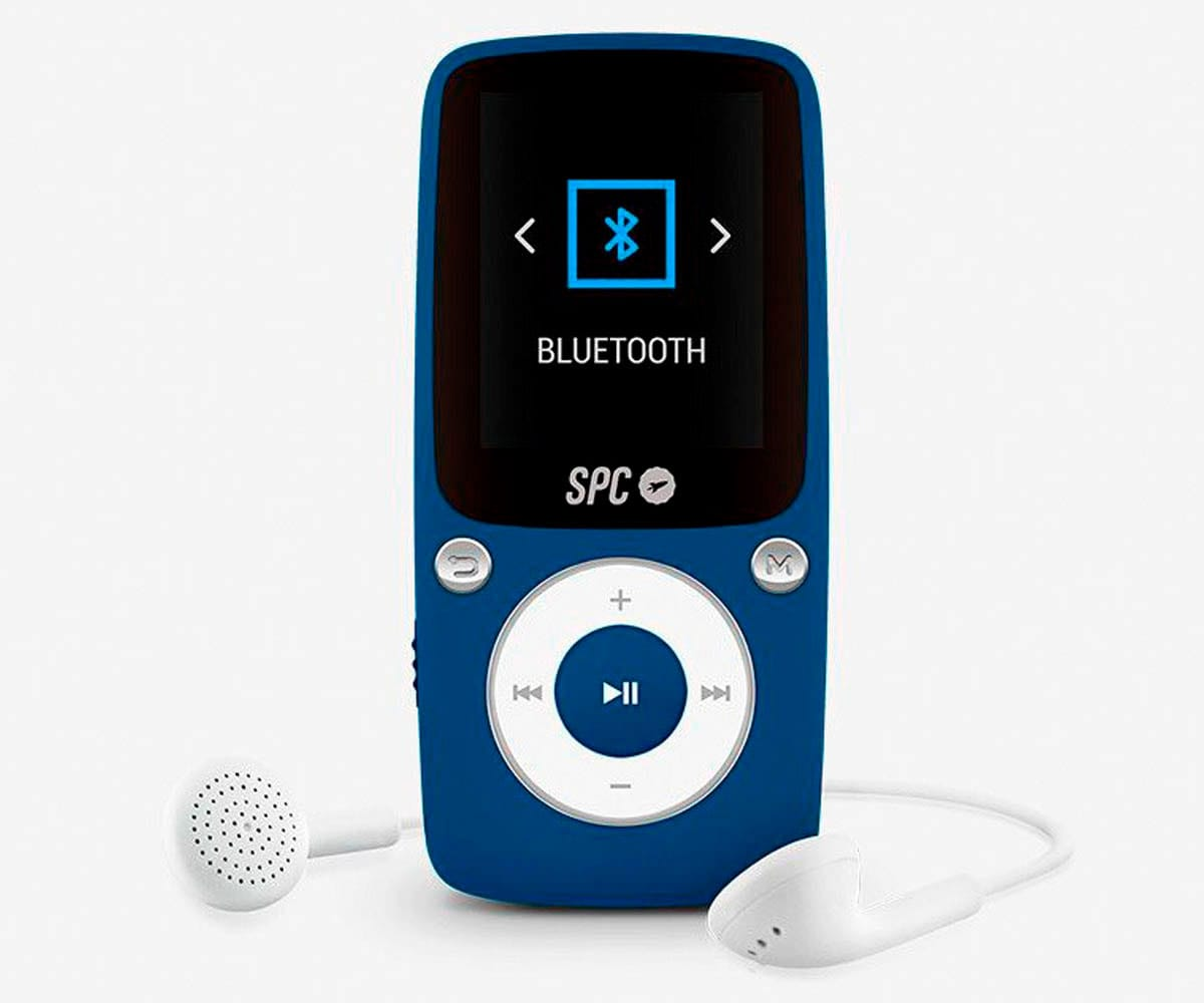 SPC 8578A AZUL REPRODUCTOR MP3 BLUESOUND 8GB BLUETOOTH RADIO FM Y GRABADOR DE VOZ