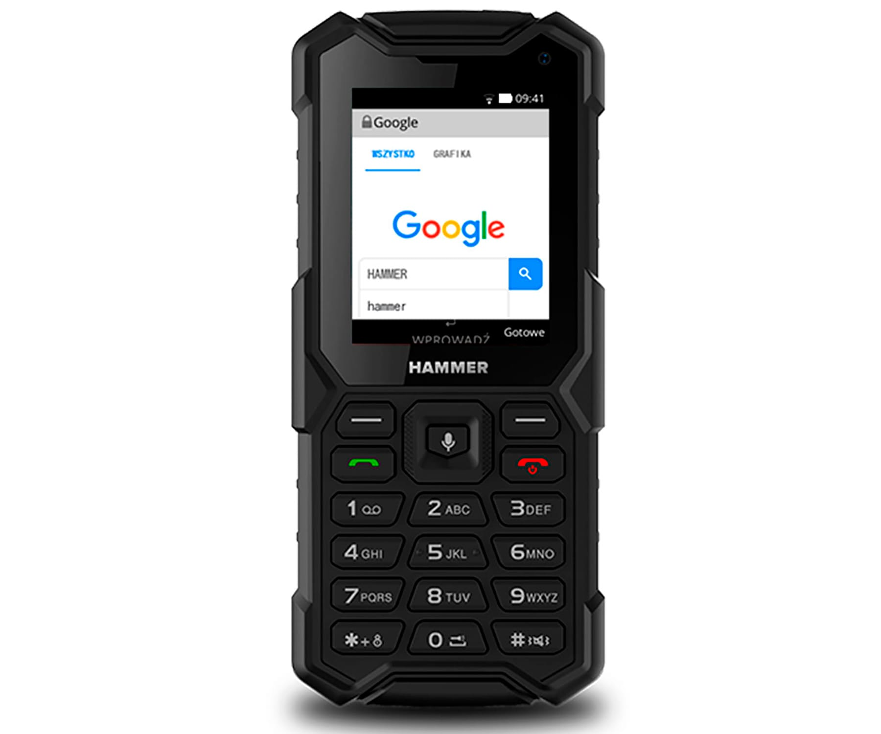 MYPHONE HAMMER 5 SMART NEGRO MÓVIL 4G RESISTENTE IP68 DUAL SIM 2.4'' TFT CÁMARA BLUETOOTH RADIO FM
