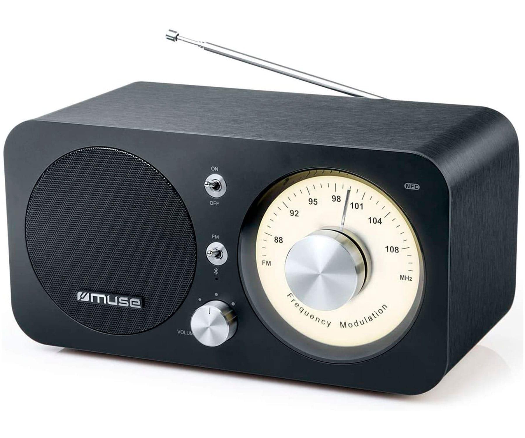 MUSE M-095BT NEGRO RADIO ANALÓGICA FM CON ALTAVOZ INTEGRADO 5W Y BLUETOOTH