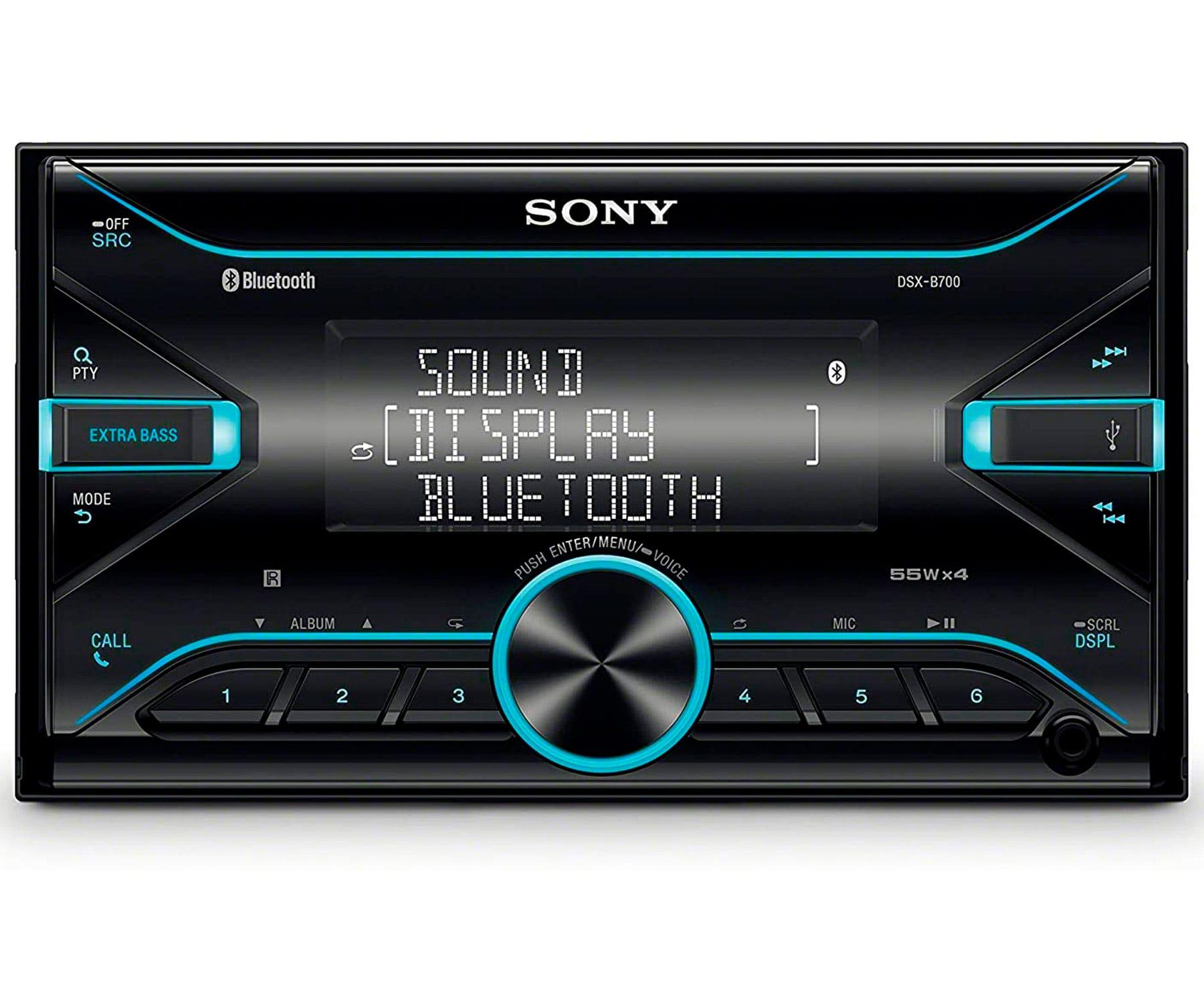 SONY DSX-B700 RECEPTOR MULTIMEDIA DIN DOBLE BLUETOOTH 4x55W PARA EL COCHE CON CONTROL POR VOZ EXTRABASS USB AUX