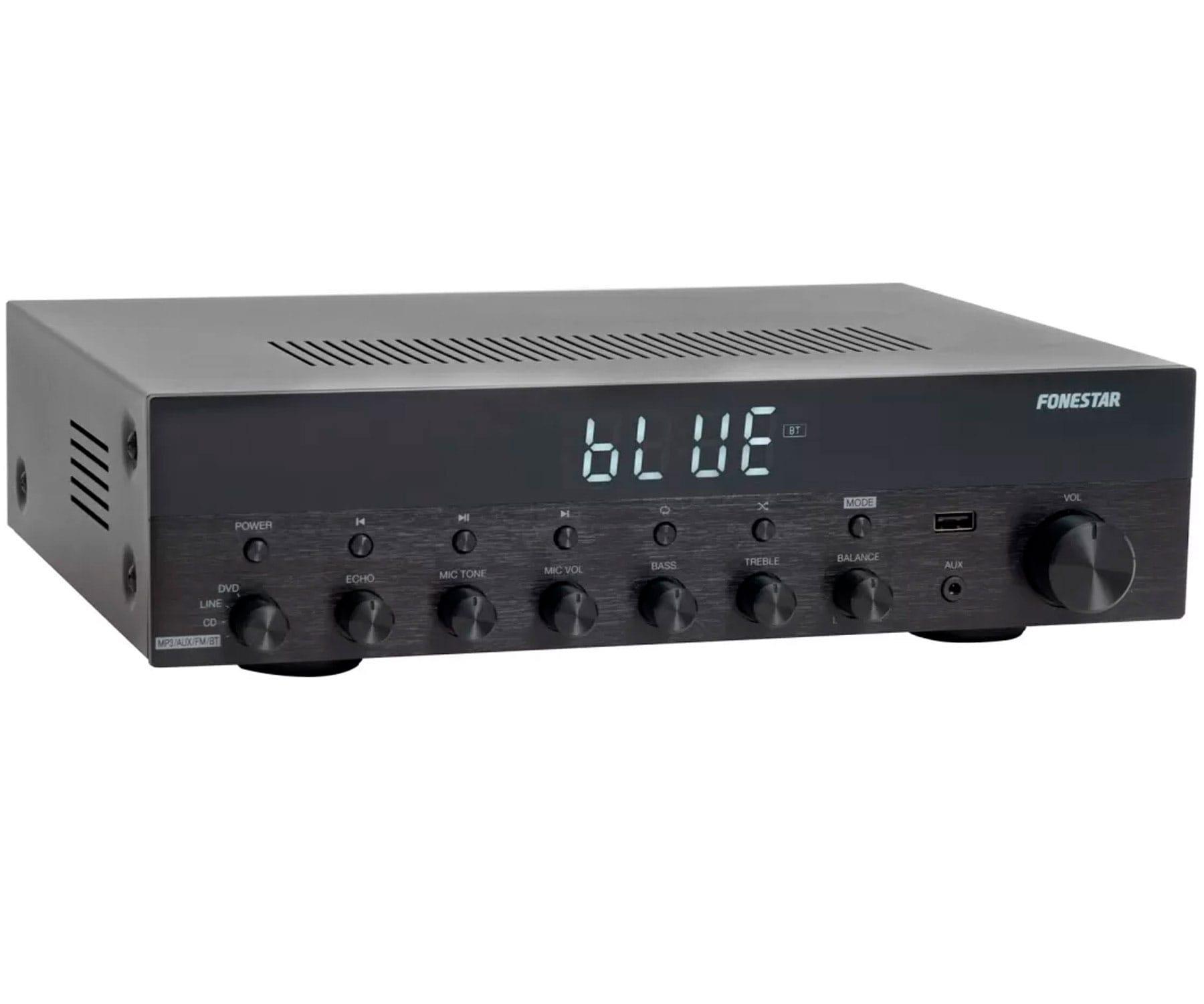 FONESTAR AS-3030 AMPLIFICADOR ESTÉREO HI-FI 30+30W BLUETOOTH USB MP3 FM ENTRADAS MICRO Y TONO