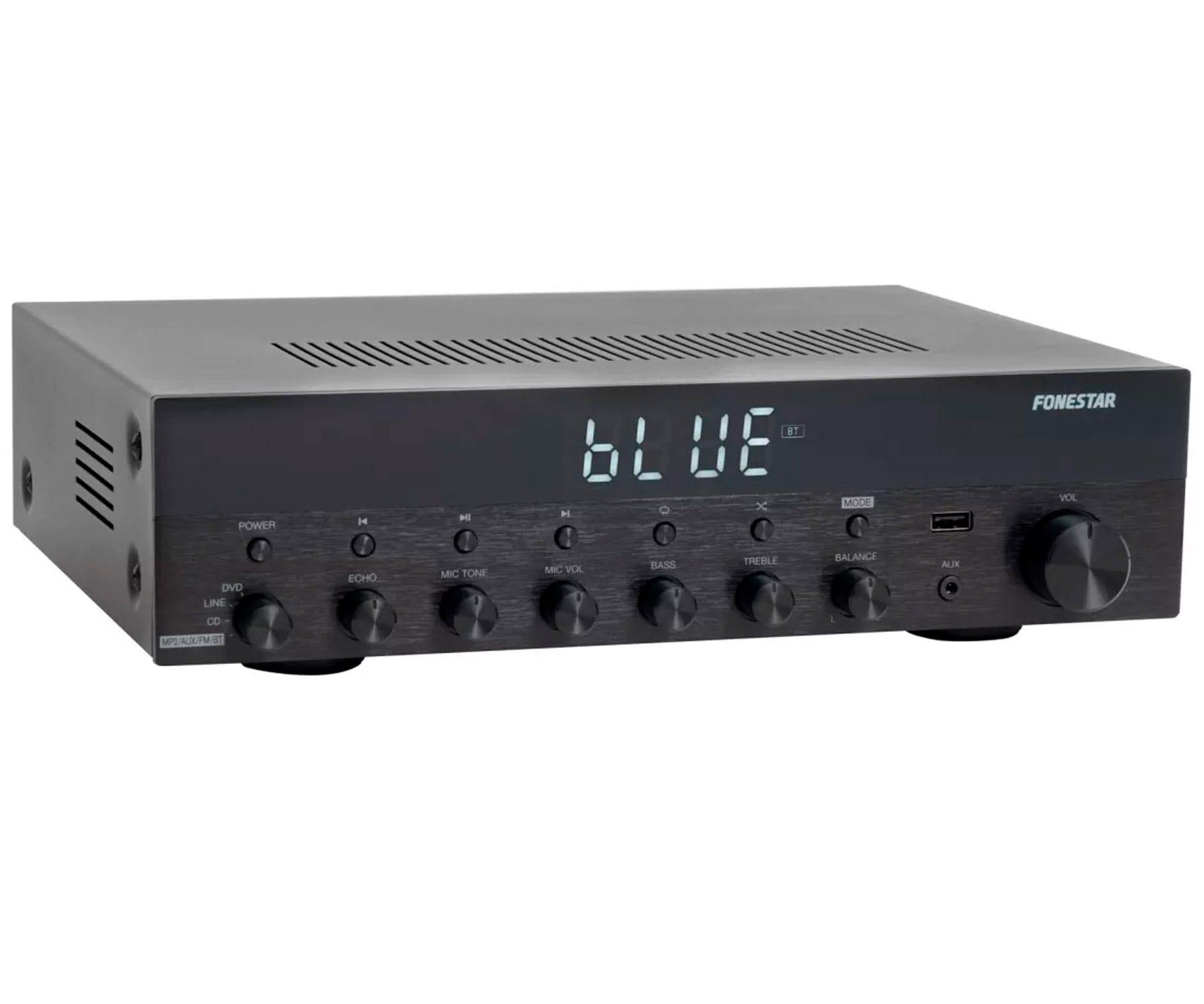 FONESTAR AS-6060 AMPLIFICADOR ESTÉREO HI-FI 60+60W BLUETOOTH USB MP3 FM ENTRADAS MICRO Y TONO