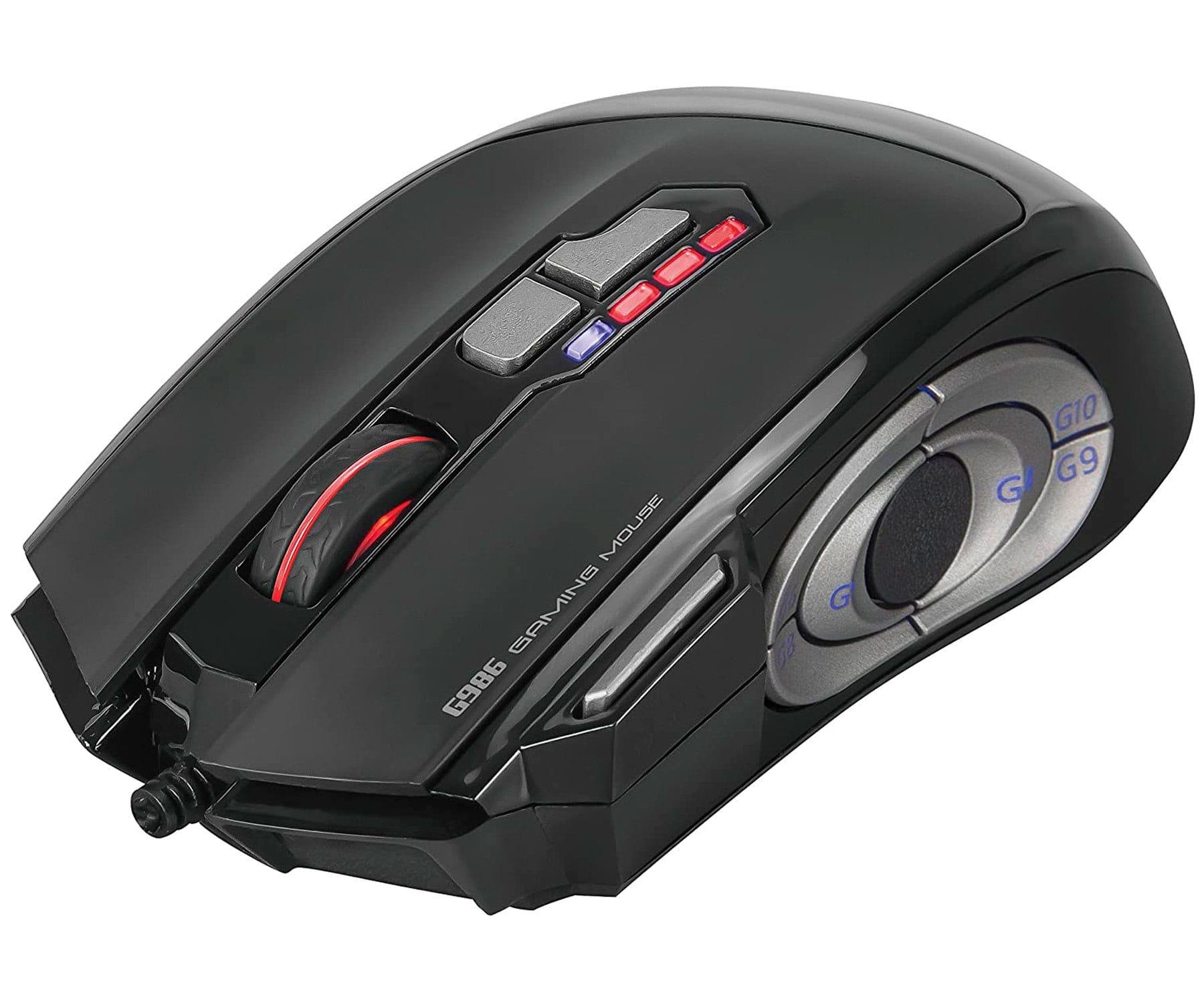 SCORPION G986 NEGRO RATÓN GAMING LED RGB USB 12 BOTONES 8000 DPI