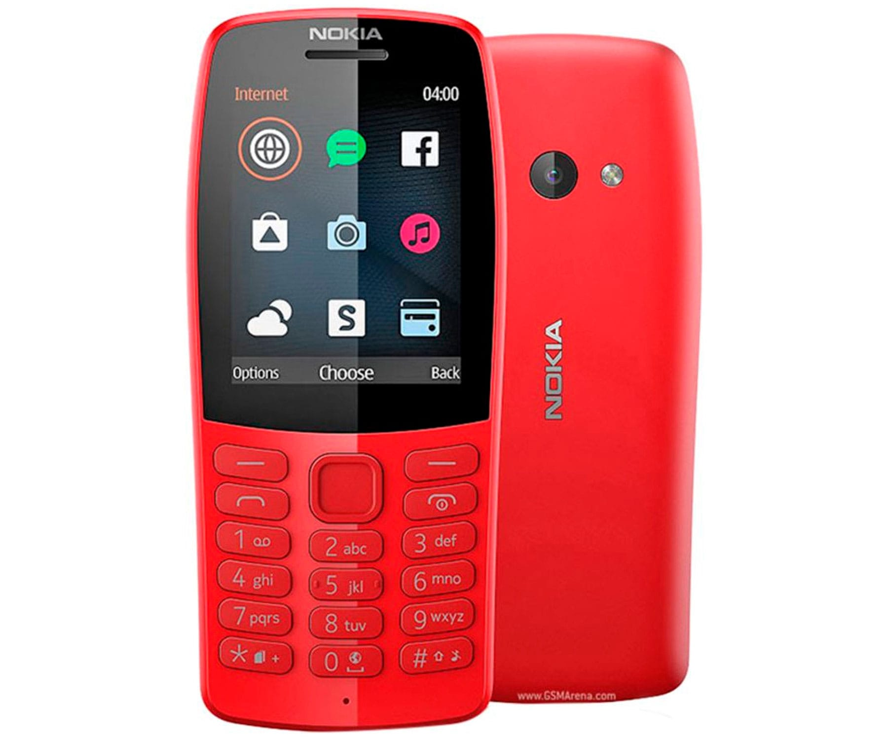 NOKIA 210 ROJO MÓVIL GSM DUAL SIM 2.4'' QVGA 16MB RADIO FM CÁMARA VGA