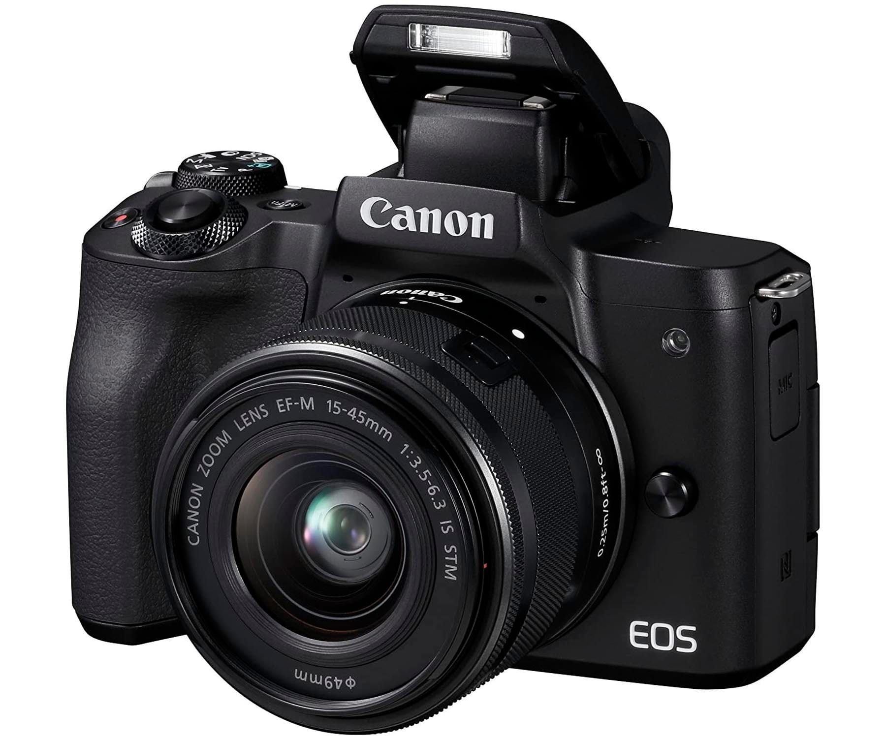 CANON KIT EOS M50 NEGRO CÁMARA 24.1MP 4K DIGIC 8 WIFI NFC BLUETOOTH + OBJETIVO EF-M 15-45mm