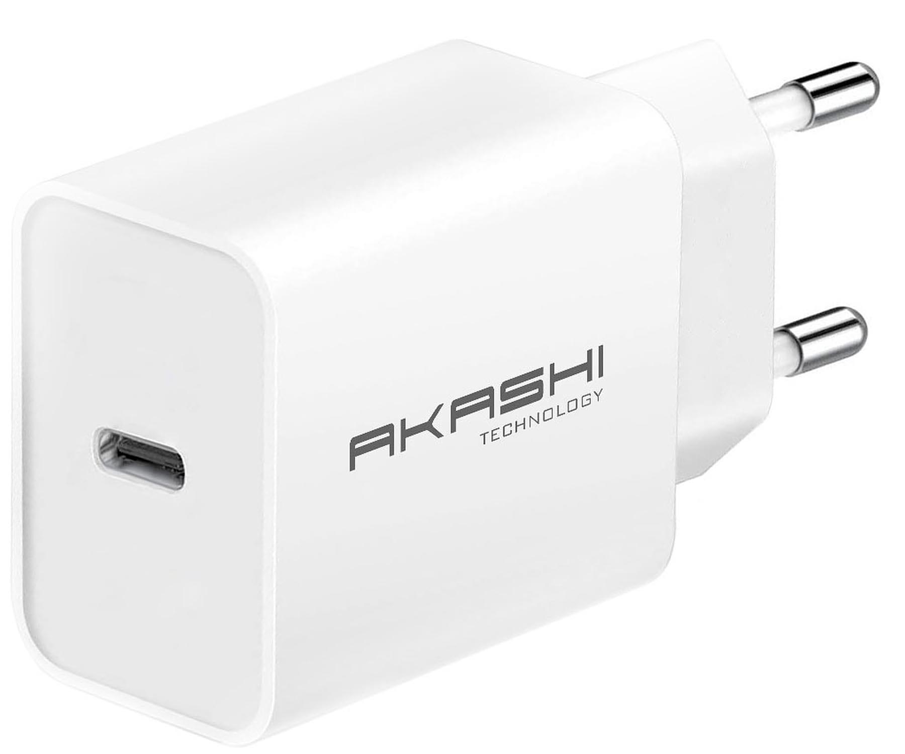 AKASHI ALTACPD18WH CARGADOR BLANCO PARED 3A USB-C 18W CARGA RÁPIDA