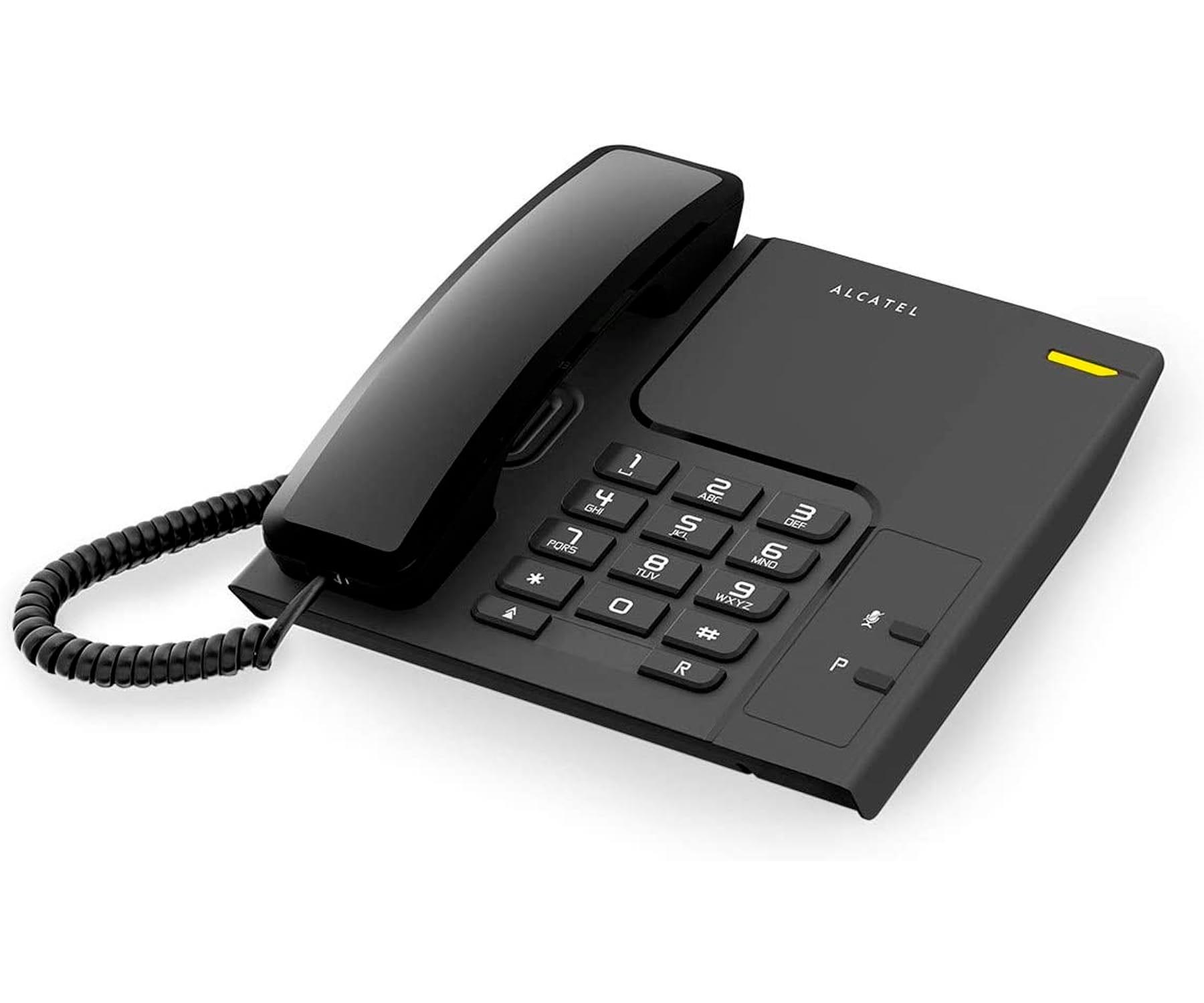 ALCATEL T26 NEGRO TELÉFONO FIJO CON CABLE RESIDENCIAL