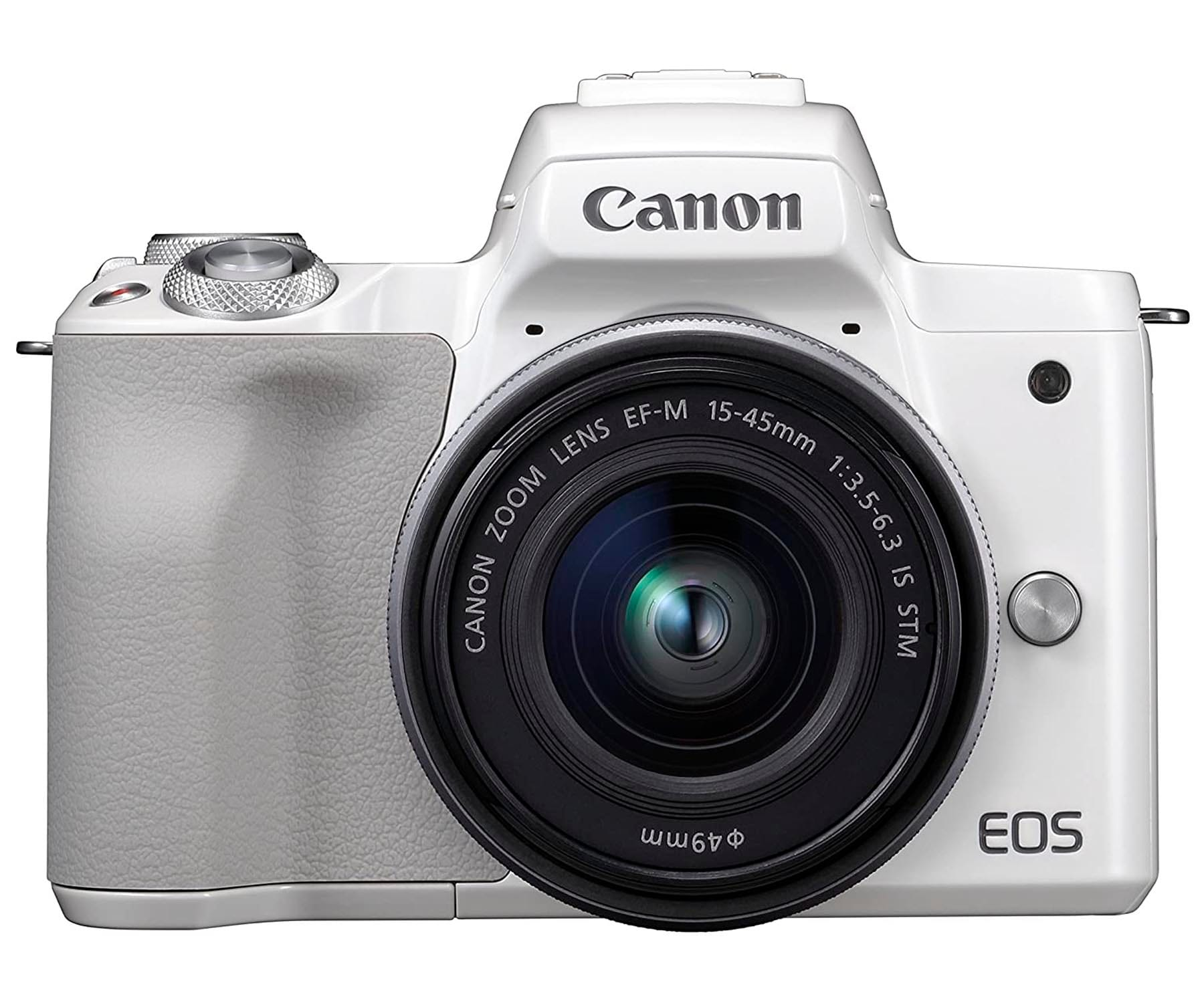 CANON KIT EOS M50 BLANCO CÁMARA 24.1MP 4K DIGIC 8 WIFI NFC BLUETOOTH + OBJETIVO EF-M 15-45mm