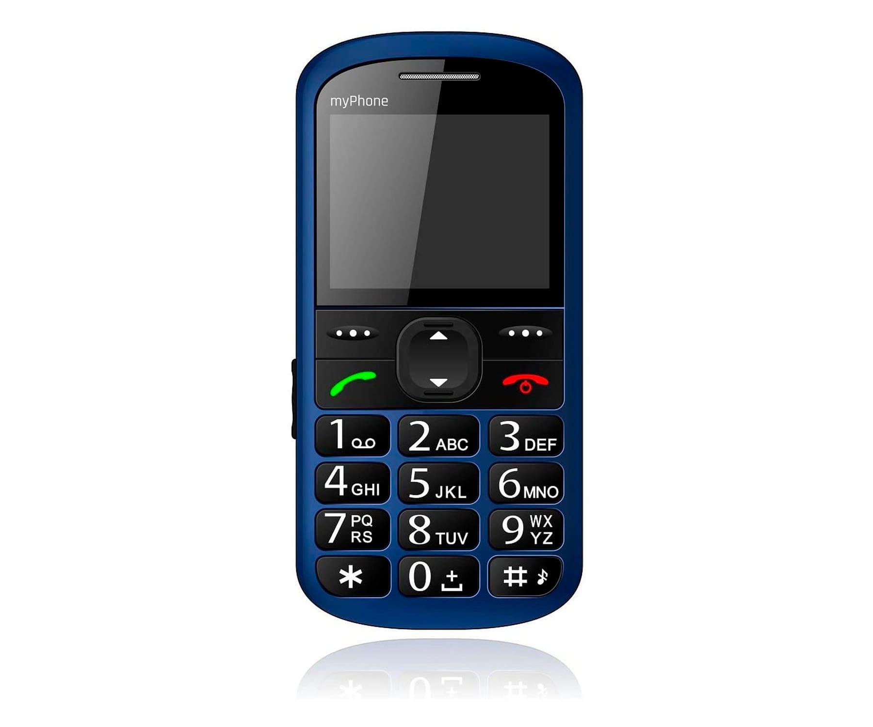 MYPHONE HALO 2 AZUL MÓVIL SENIOR 2.2'' CÁMARA VGA BLUETOOTH MICROSD BOTÓN SOS BASE DE CARGA