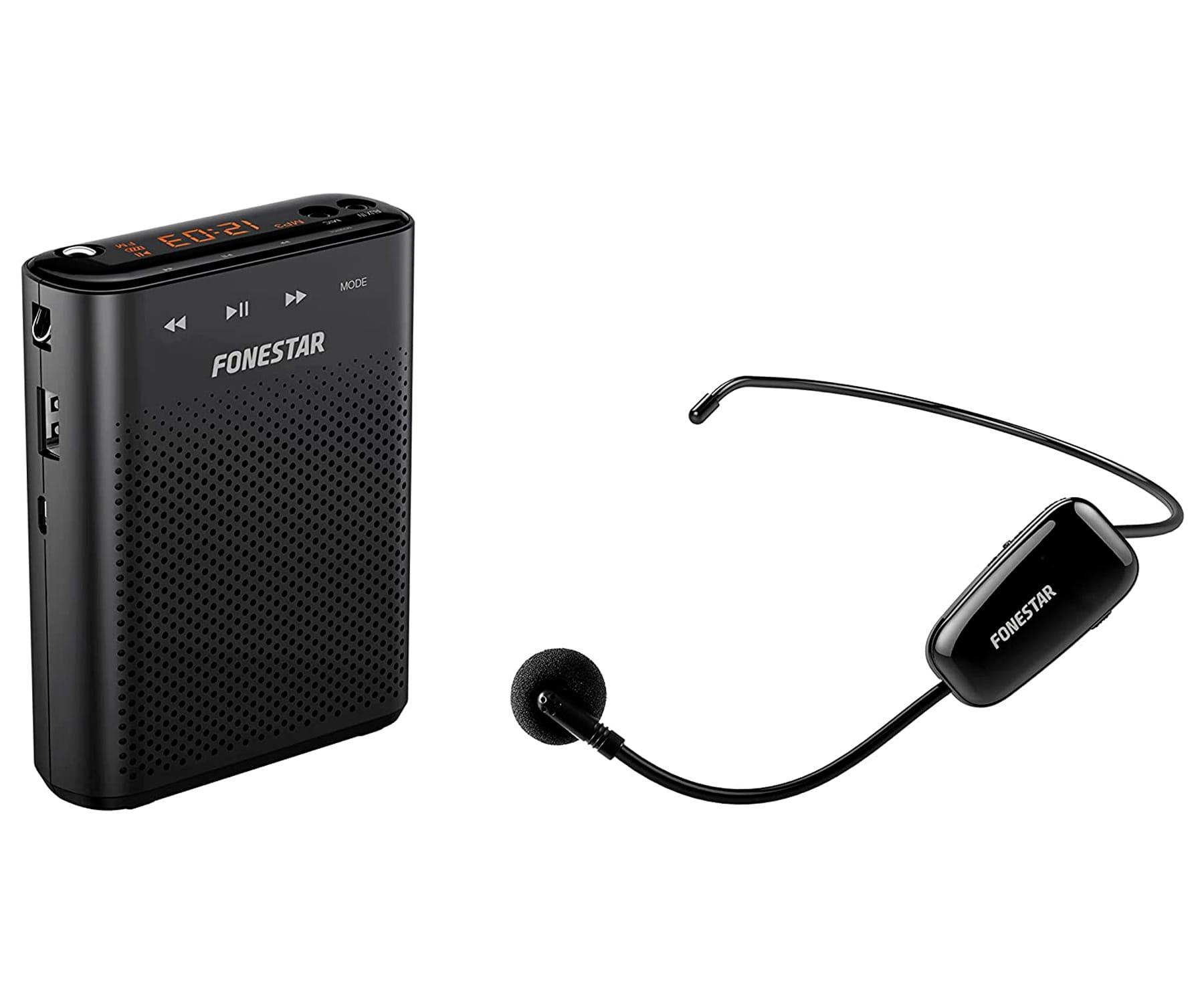 FONESTAR ALTA-VOZ-W30 AMPLIFICADOR PORTÁTIL PARA CINTURA CON MICRÓFONO Y GRABADOR USB/microSD/MP3