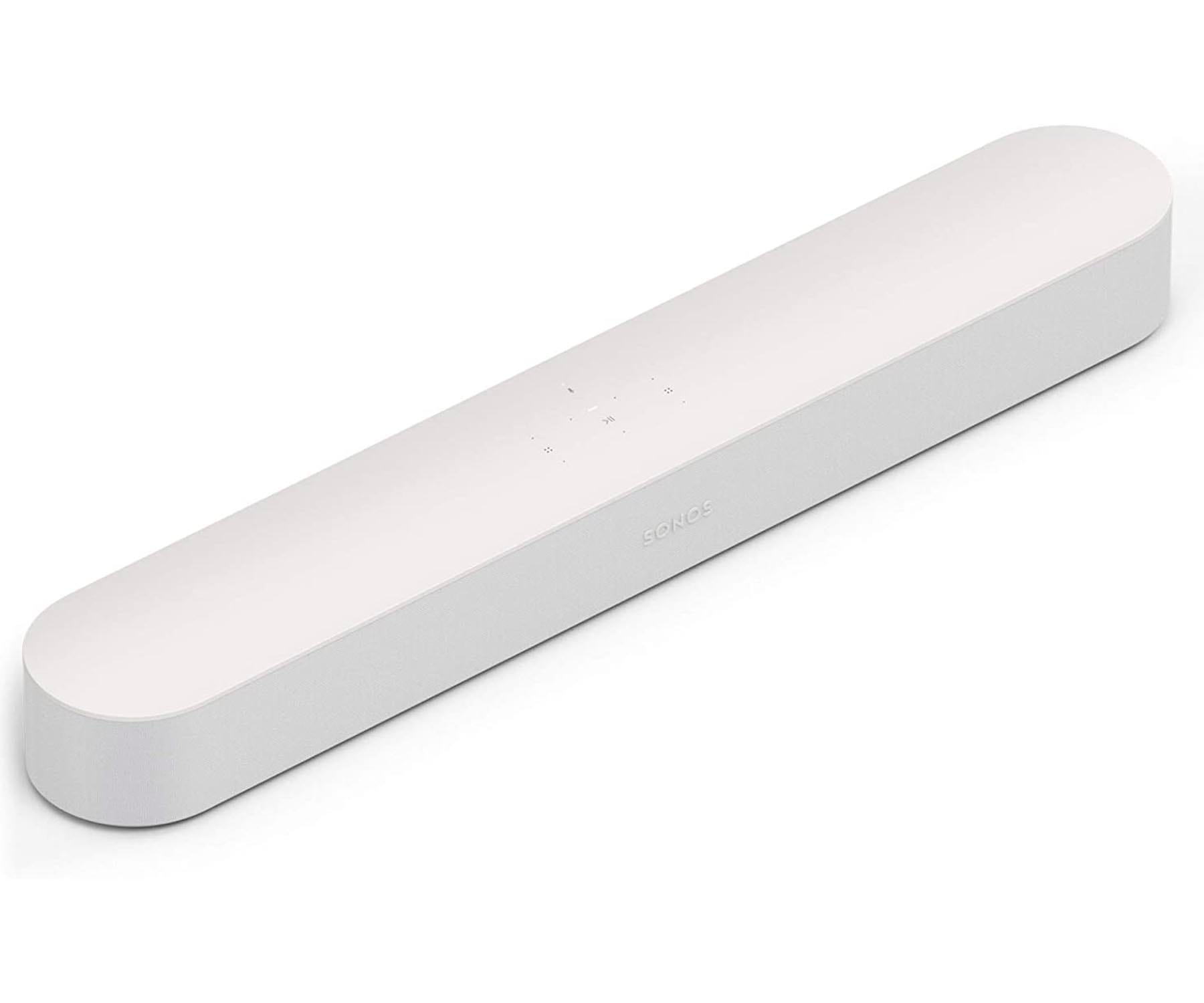 SONOS BEAM BLANCO BARRA DE SONIDO INTELIGENTE CON AIRPLAY 2 DE APPLE ASISTENTE DE GOOGLE AMAZON ALEXA