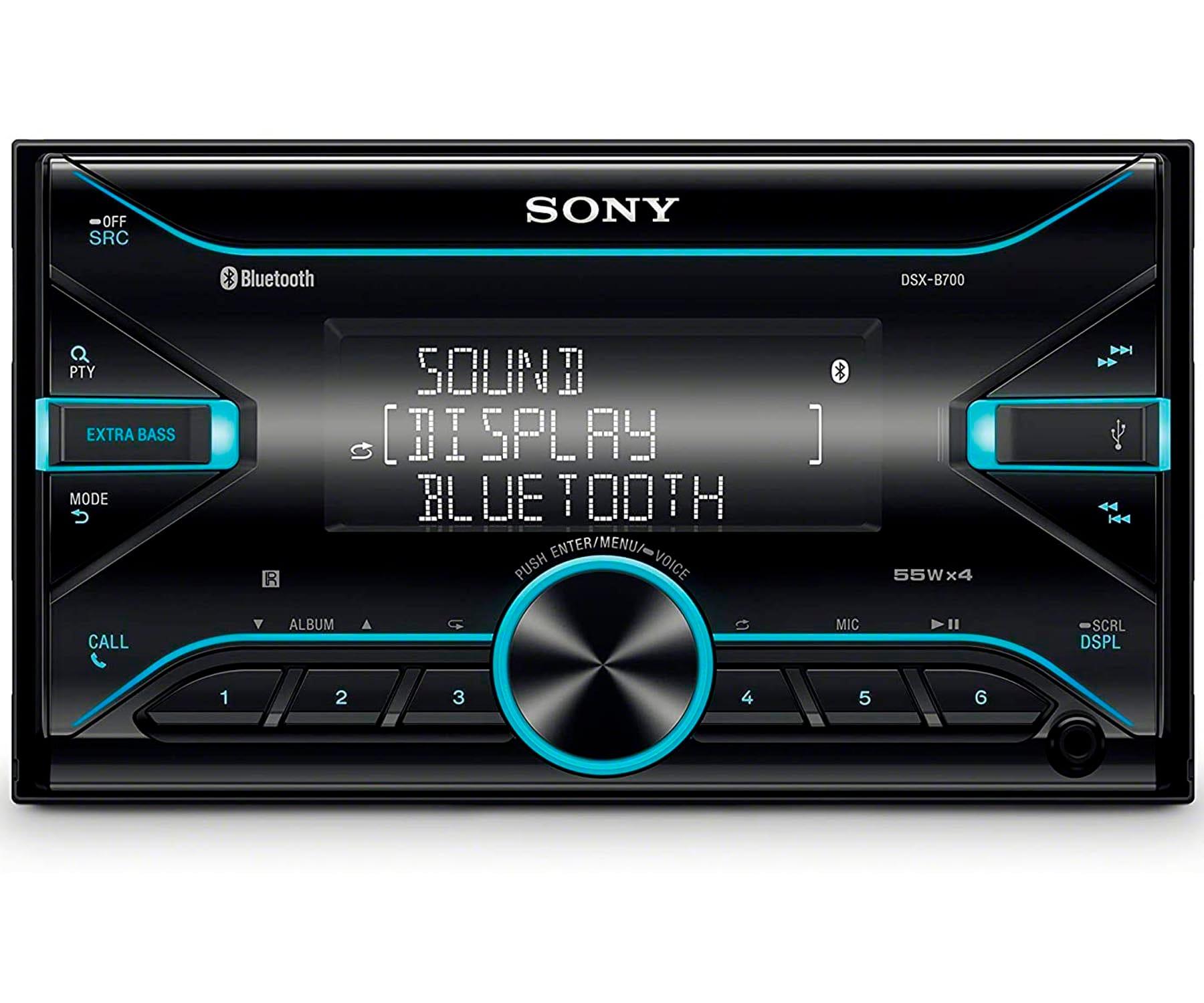SONY DSX-B710D RECEPTOR MULTIMEDIA DIN DOBLE BLUETOOTH 4x55W PARA EL COCHE CON CONTROL POR VOZ EXTRABASS USB AUX