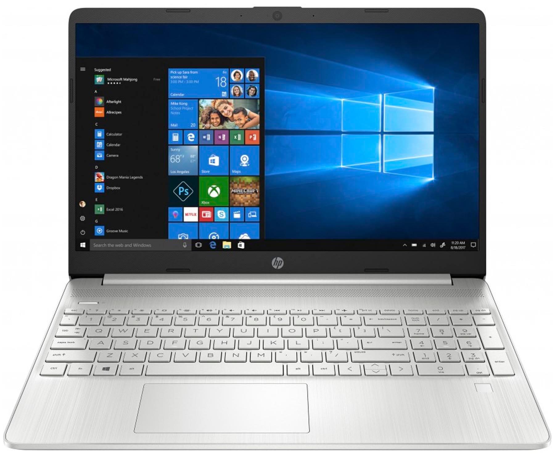 HP LAPTOP 15s-EQ1002 PLATA PORTÁTIL 15.6'' HD AMD RYZEN 7-3700U 256GB SSD 8GB RAM WINDOWS 10 HOME