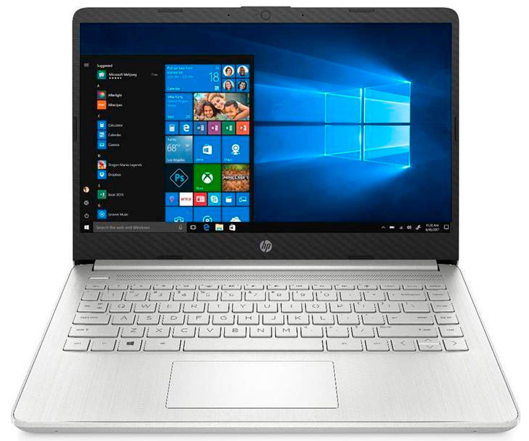 HP LAPTOP 14s-DQ1018 PLATA PORTÁTIL 14'' FullHD i7-1065G7 256GB SSD 8GB RAM WINDOWS 10 HOME