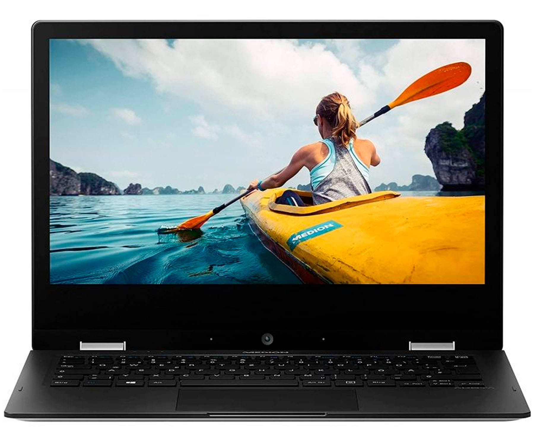 MEDION E2291 MD62001 PLATA PORTÁTIL CONVERTIBLE 11,6'' TÁCTIL 360º FullHD CEL-N4020 64GB 4GB RAM WINDOWS 10 HOME