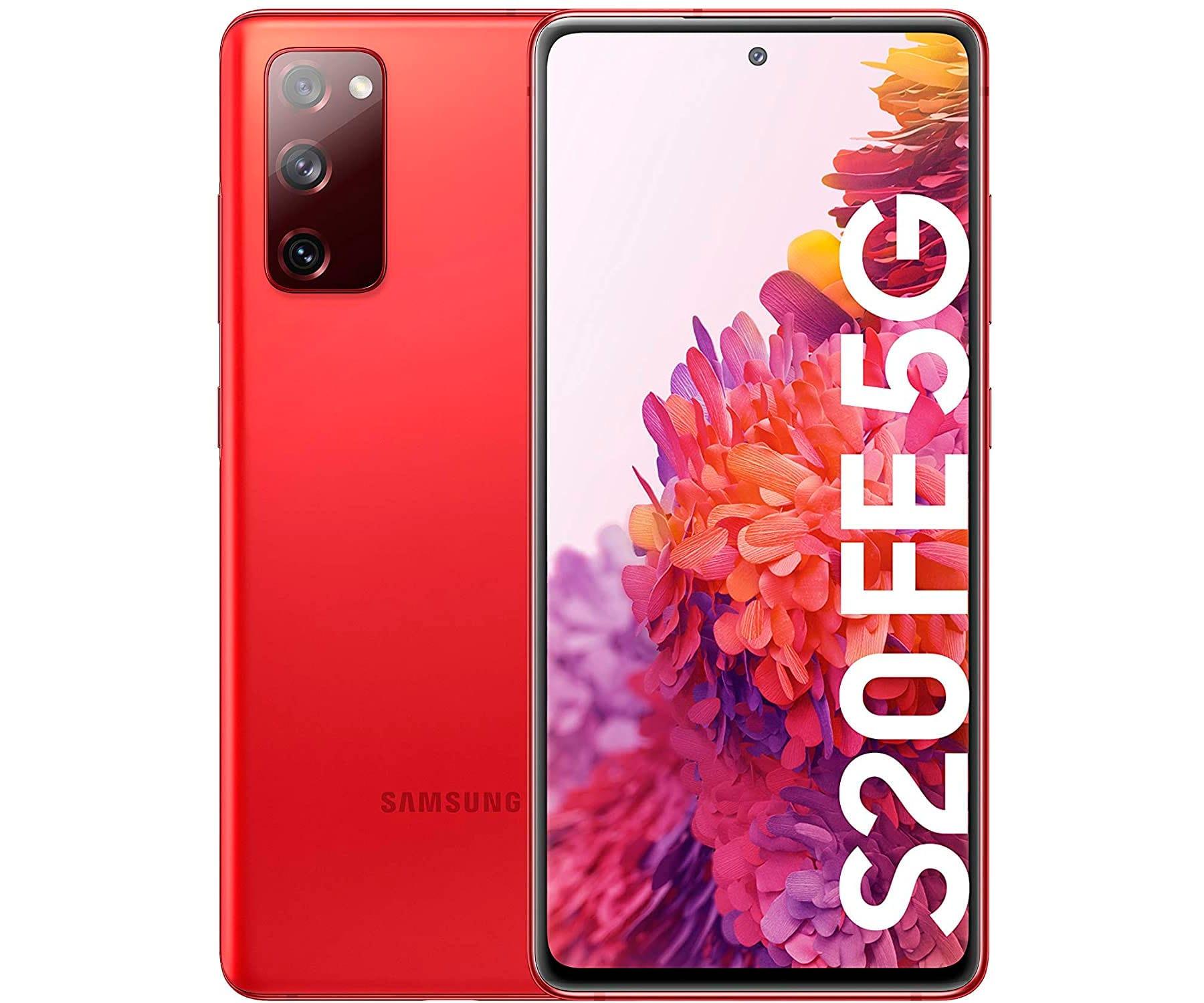 SAMSUNG G781 GALAXY S20 FE ROJO MÓVIL DUAL SIM 5G 6.5'' QHD+ OCTACORE 128GB 6GB RAM TRICAM 12MP SELFIES 32MP