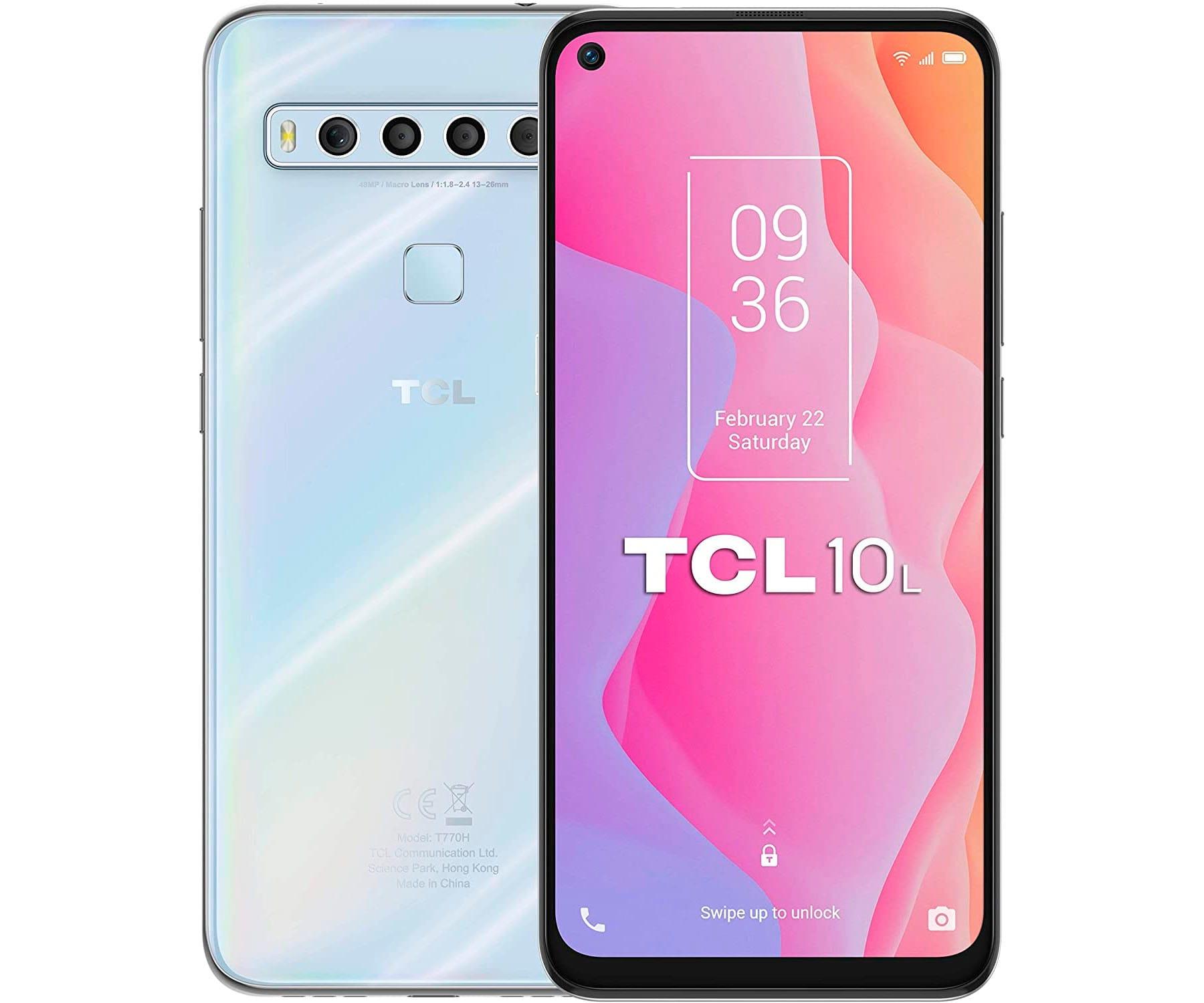 TCL 10L BLANCO MÓVIL 4G DUAL SIM 6.53'' FullHD+ OCTACORE 64GB 6GB RAM QUADCAM 48MP SELFIES 16MP