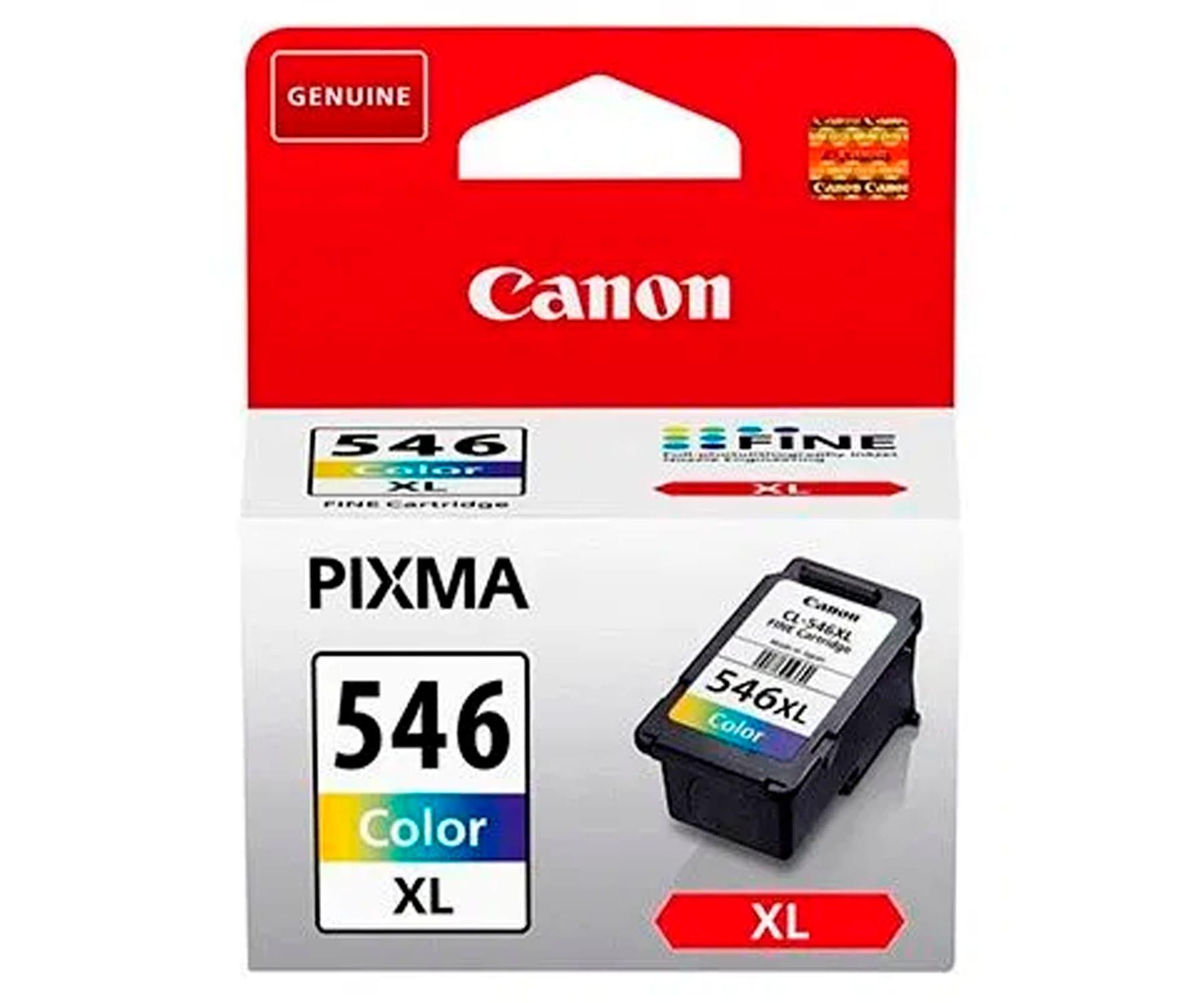 CANON CL-546 XL TRICOLOR CARTUCHO DE TINTA 13ml FINE PIXMA CIAN MAGENTA AMARILLO