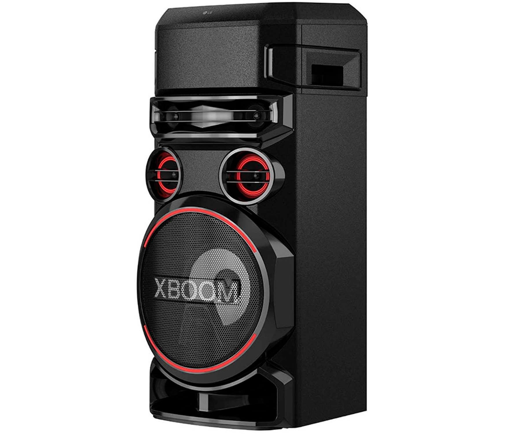 LG XBOOM RN7 SISTEMA DE AUDIO DE ALTO VOLTAJE 1000W BLUETOOTH USB FUNCIONES DJ Y KARAOKE ILUMINACIÓN LED