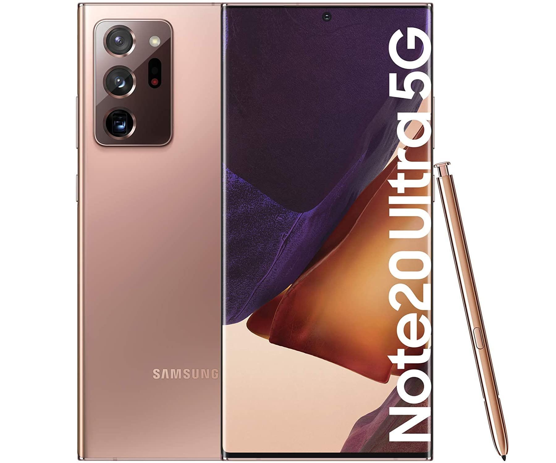 SAMSUNG GALAXY NOTE 20 ULTRA BRONCE MÓVIL DUAL SIM 5G 6.9'' SUPER AMOLED 120Hz 2K OCTACORE 256GB 12GB RAM TRICAM 108MP SELFIES 10MP
