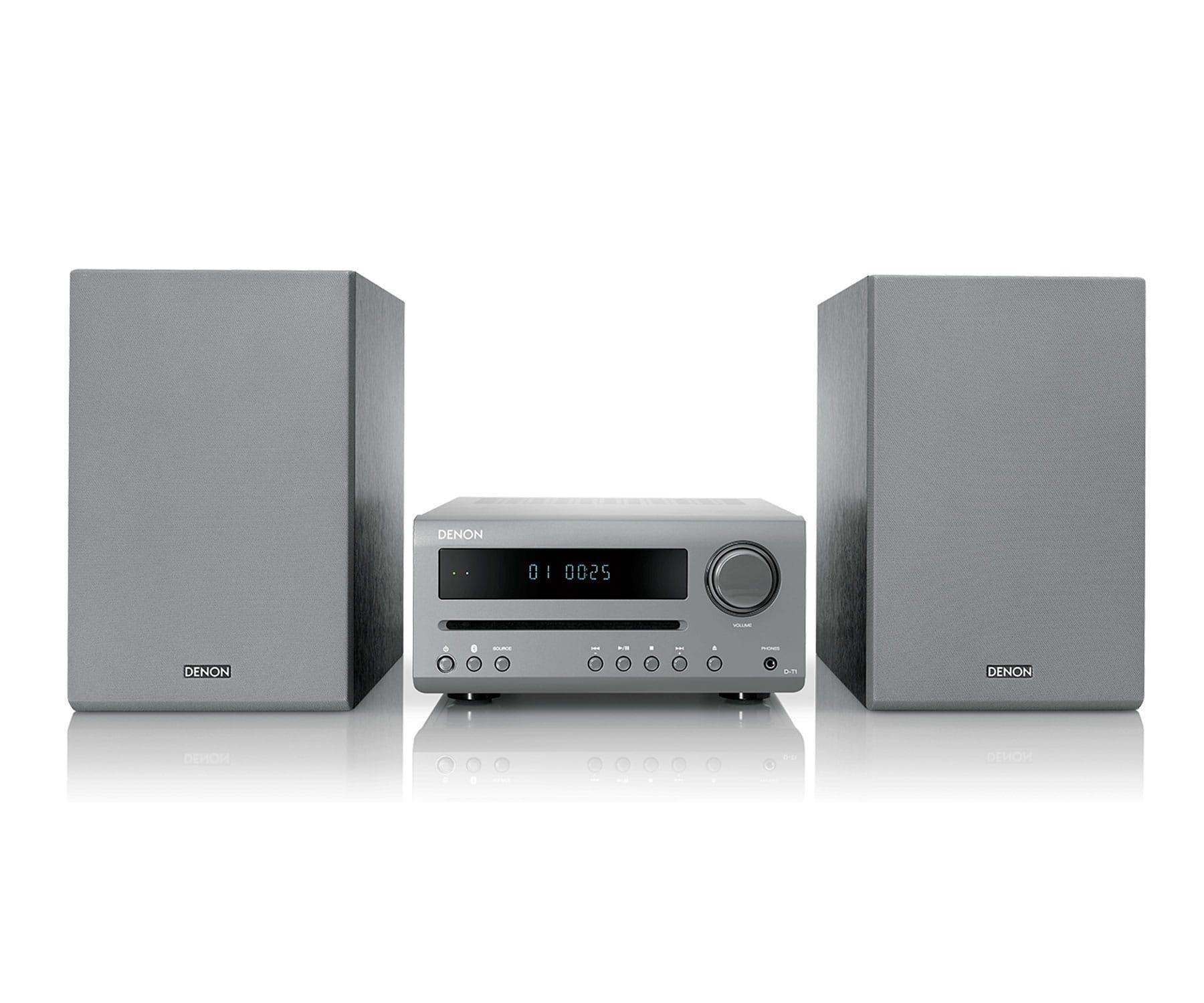 DENON DT1 GY SISTEMA HI-FI 15W CON CONEXIÓN BLUETOOTH, CD Y FM/AM