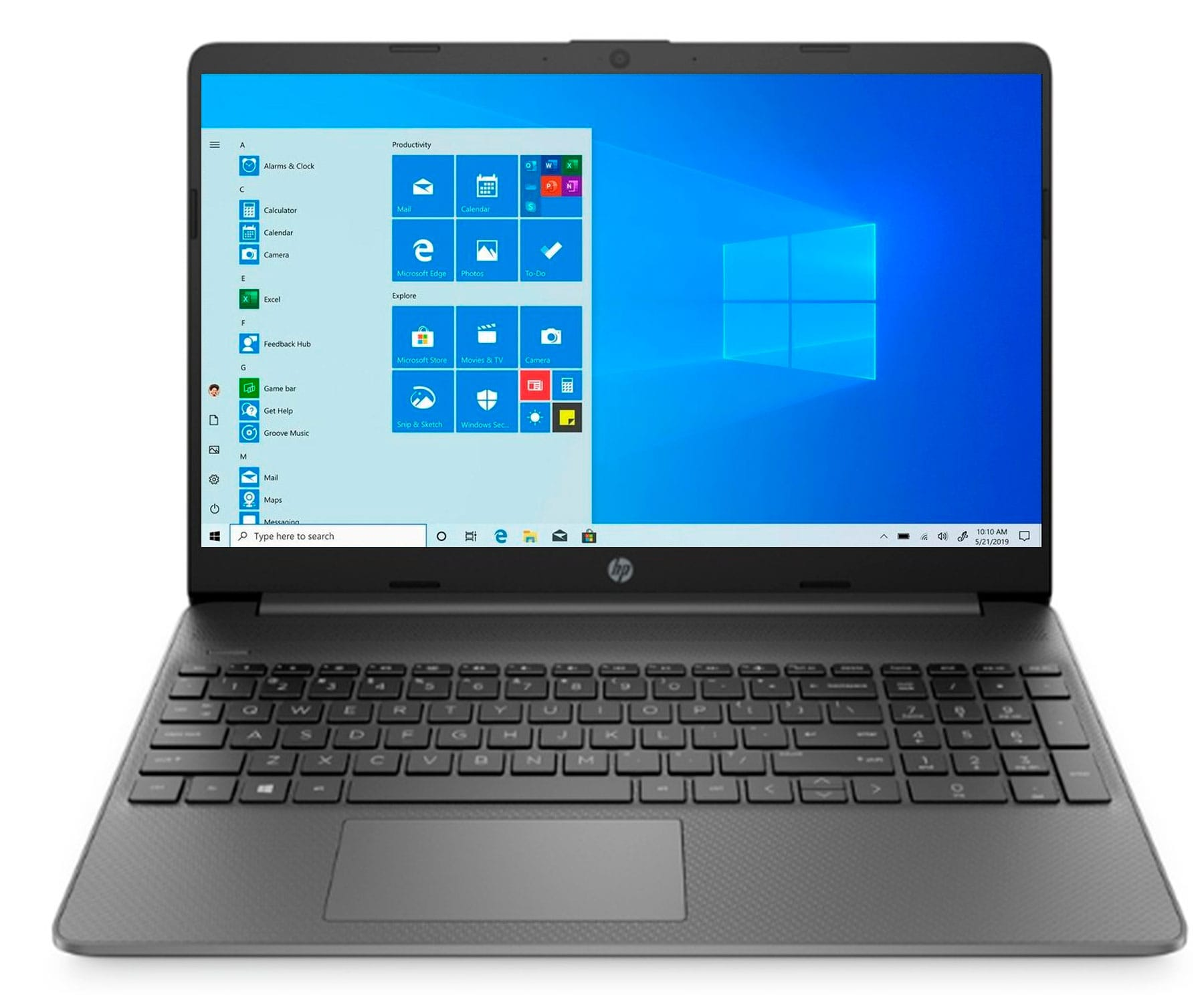 HP LAPTOP 15s-EQ1037 GRIS PIZARRA PORTÁTIL 15.6'' AMD ATHLON SILVER 3050U 256GB SSD 8GB RAM WINDOWS 10 HOME