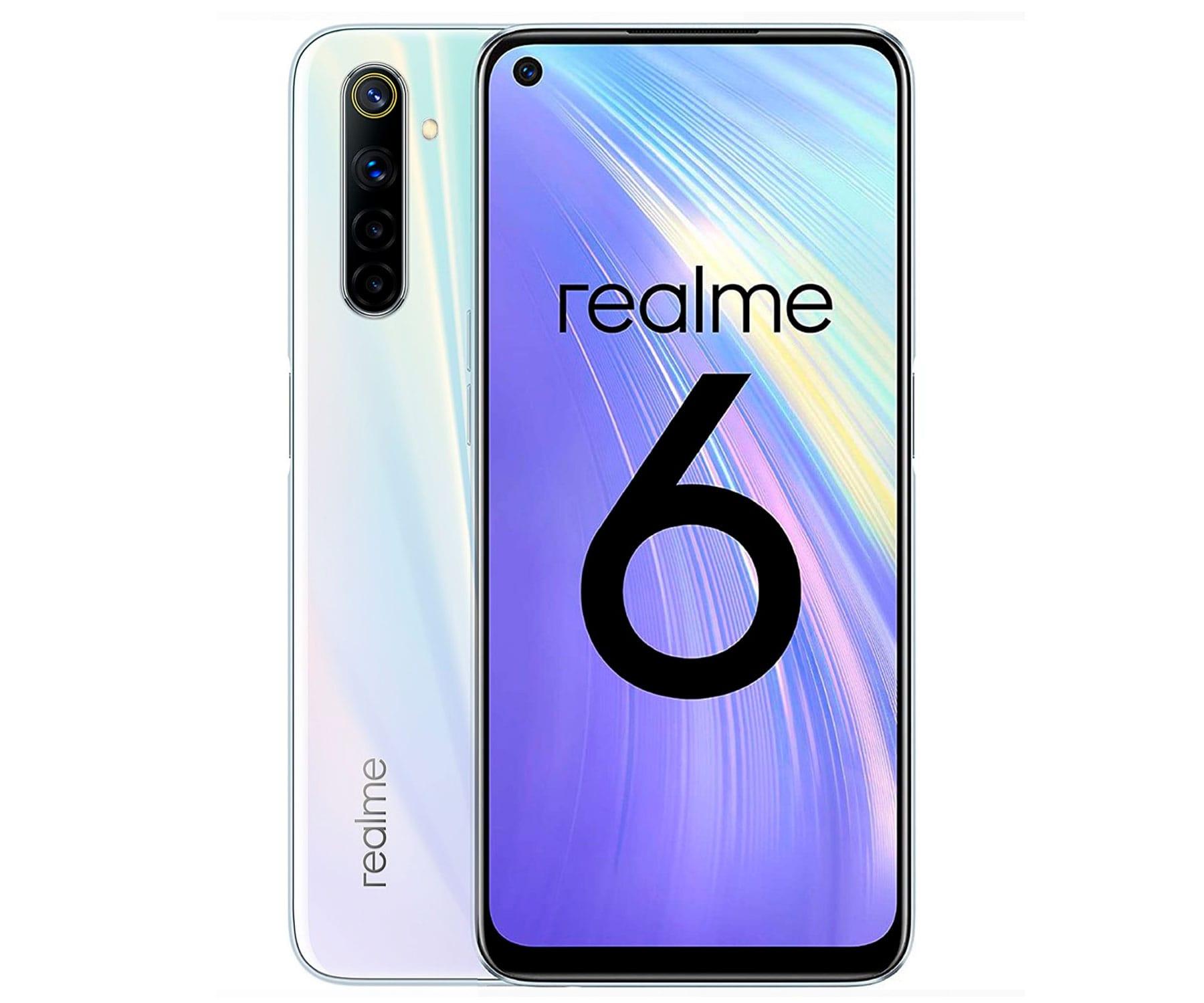"""Realme 6 COMET Blanco 4G/8-Core/4GB+64GBGB/6.5"""" FHD+/Dual Sim"""