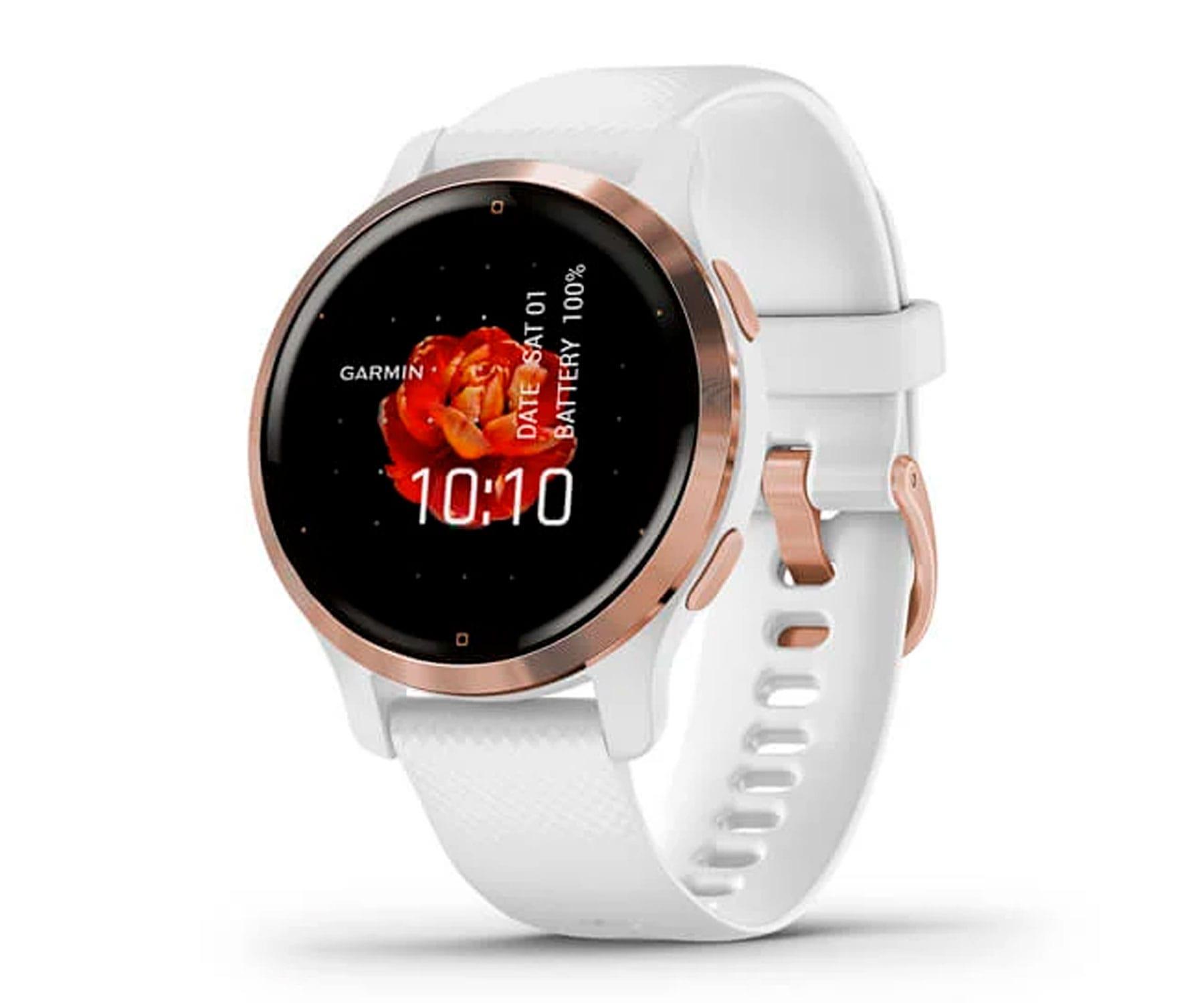 GARMIN VENU 2S ROSA ORO/BLANCO SMARTWATCH MULTIDEPORTE WIFI GPS INTEGRADO FRECUENCIA ACTIVIDAD SUEÑO 40MM