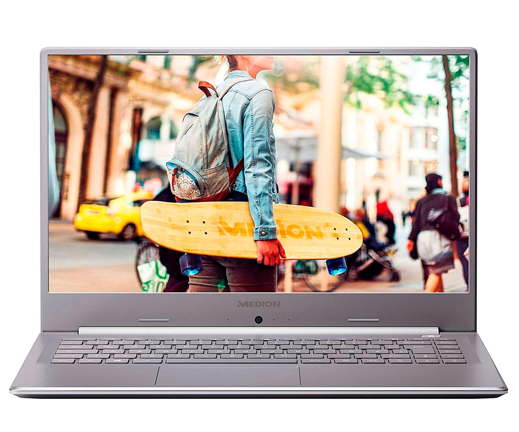 MEDION E6247 MD62004 PLATA PORTÁTIL 15.6'' FullHD CEL-N4020 256GB SSD 8GB RAM WINDOWS 10 HOME