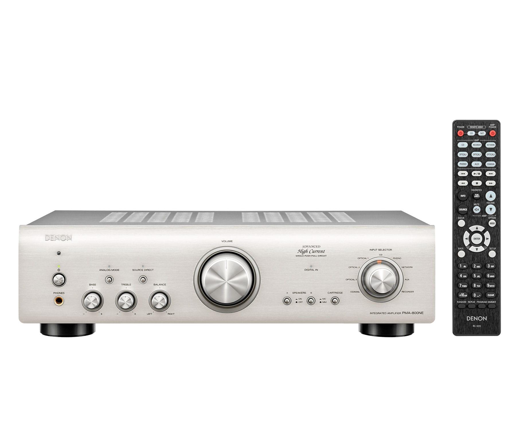 DENON PMA 800 Plata Amplificador integrado de 85 W por canal