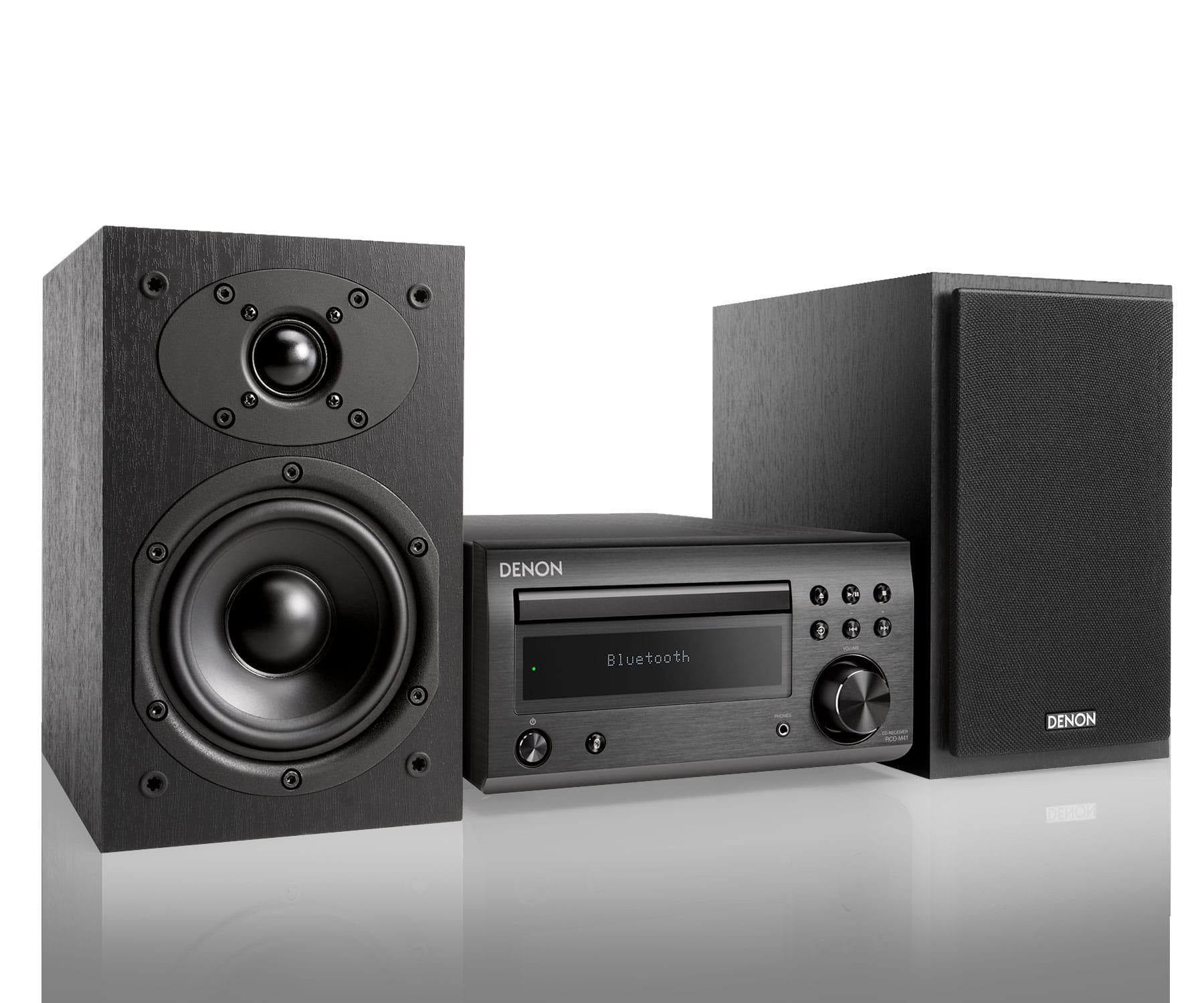Denon DM-41 Negro Microcadena/Sistema Hi-Fi con CD/Bluetooth/Sintonizador FM/AM