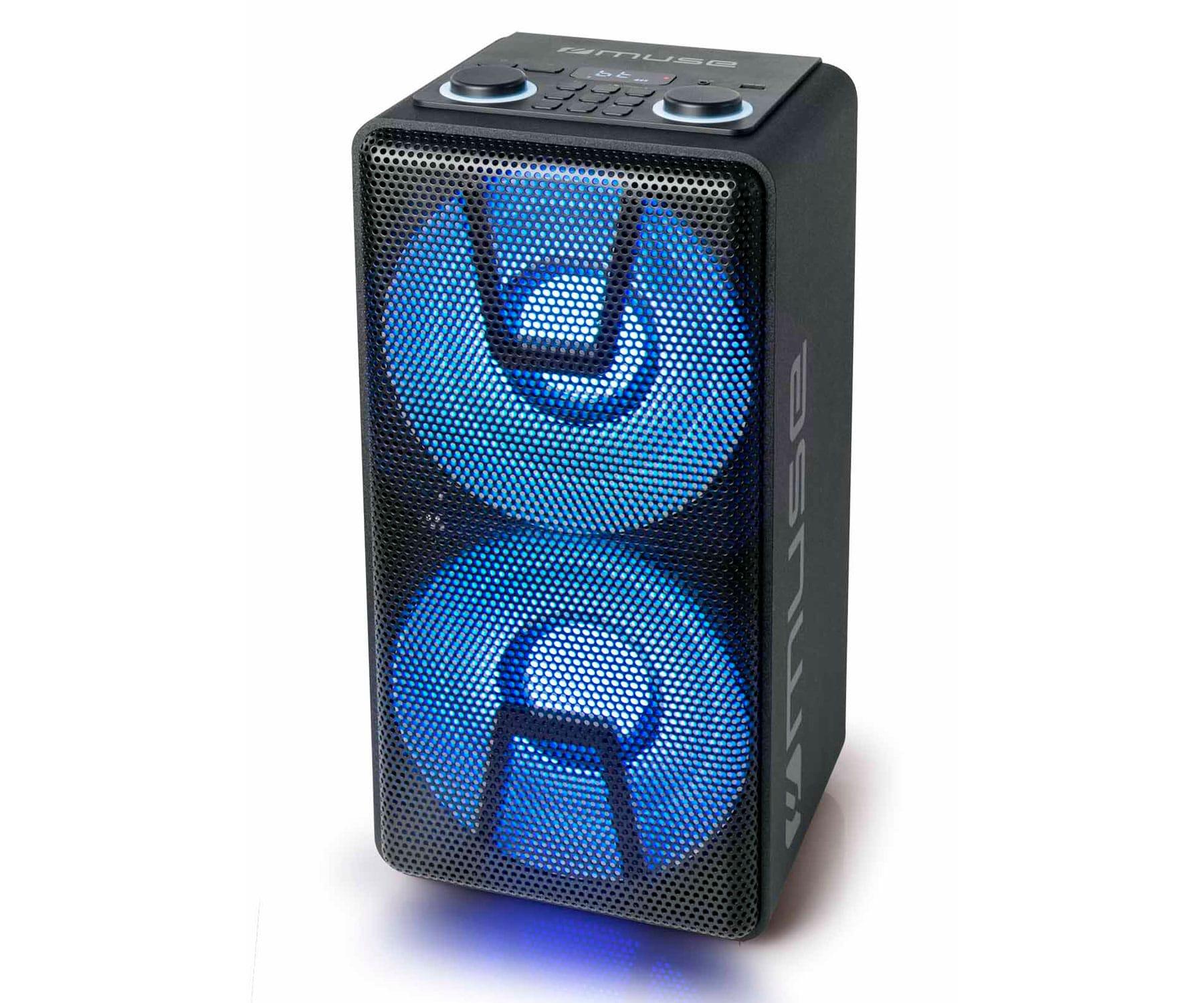 MUSE M1805DJ PARTY BOX BT 150W/ Bluetooth/ FM / USB reproductor/ Entrada micro y guitarra