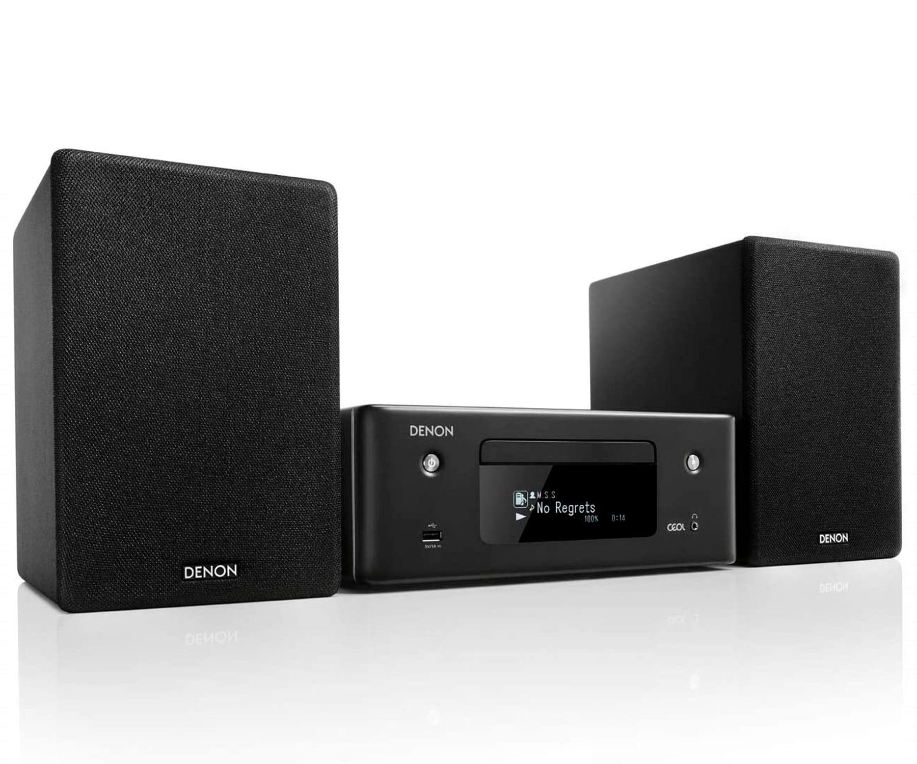 Denon CEOL N10 Negro Microcadena/Bluetooth/130W RMS/Airplay 2/Tecnología HEOS