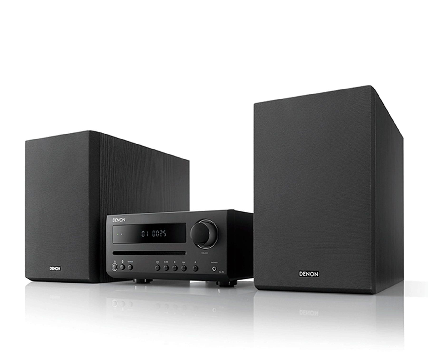 Denon DT1 BK Negro/2x15W/Minisistema Hi-Fi/CD/Radio FM/AM/Bluetooth