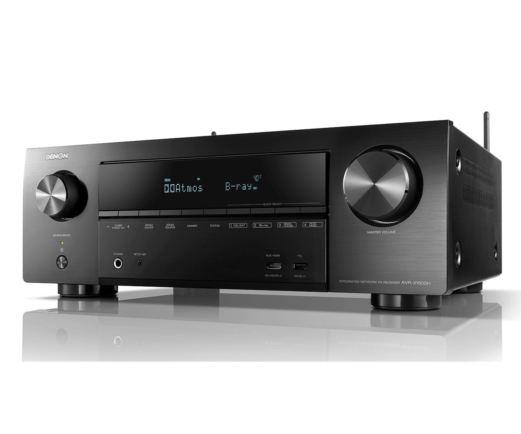 Denon AVR-X1600H Negro/Receptor AV/4K Ultra HD/7.2ch/145W/Dolby Atmos/DTS/3D/ARC