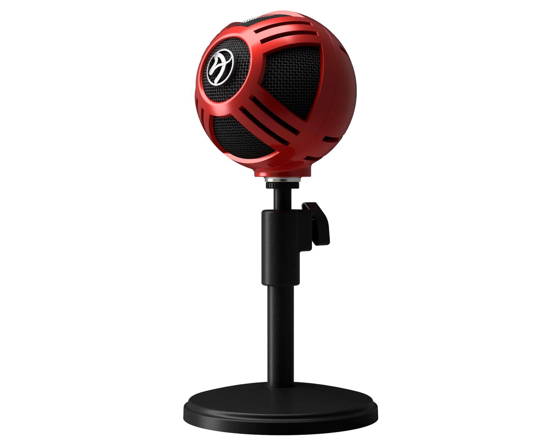Arozzi Sfera Micrófono Gaming Rojo/USB/ Plug-and-play/Cardioide
