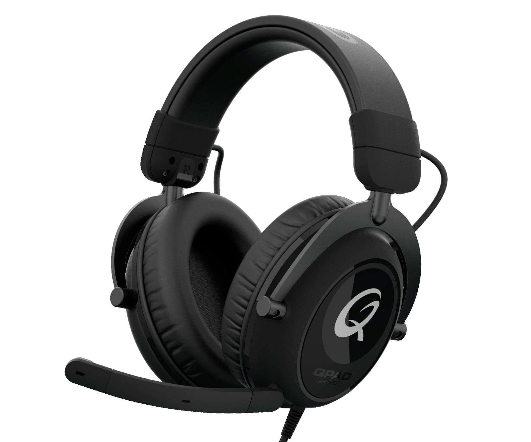 Qpad QH700 Premium Stereo Negro/ Auriculares Multiplataforma/Estéreo/RGB
