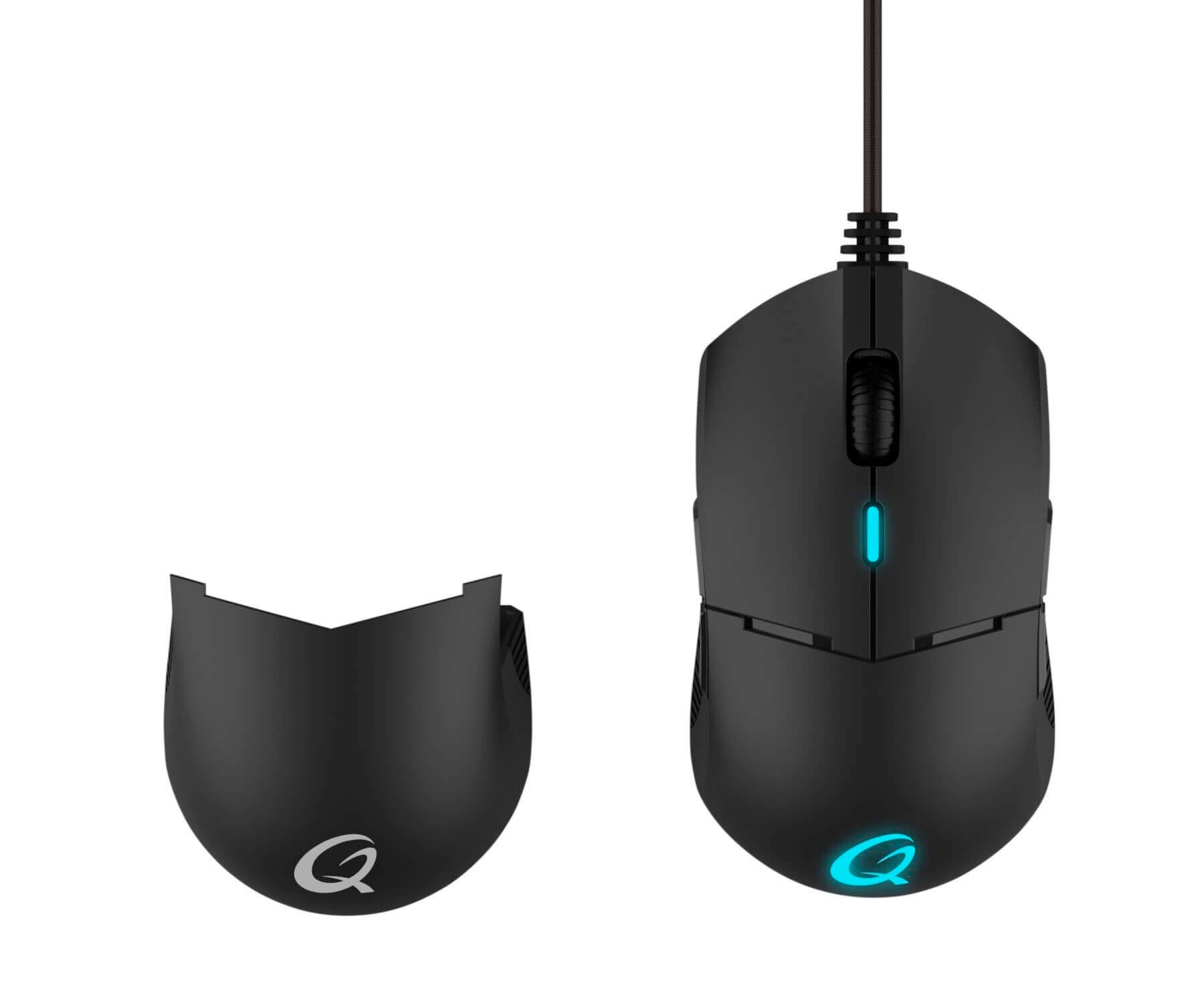 Qpad DX700 Negro/Ratón óptico//Gaming/Profesional/16.000 ppp/Ambidiestro