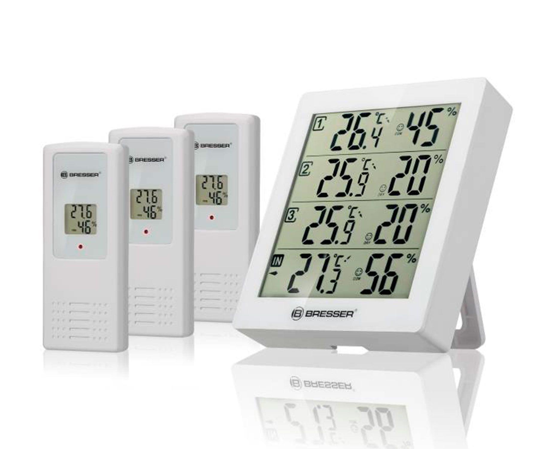 Bresser Temeo Hygro Quadro Blanco/Estación meteorológica + 3 sensores
