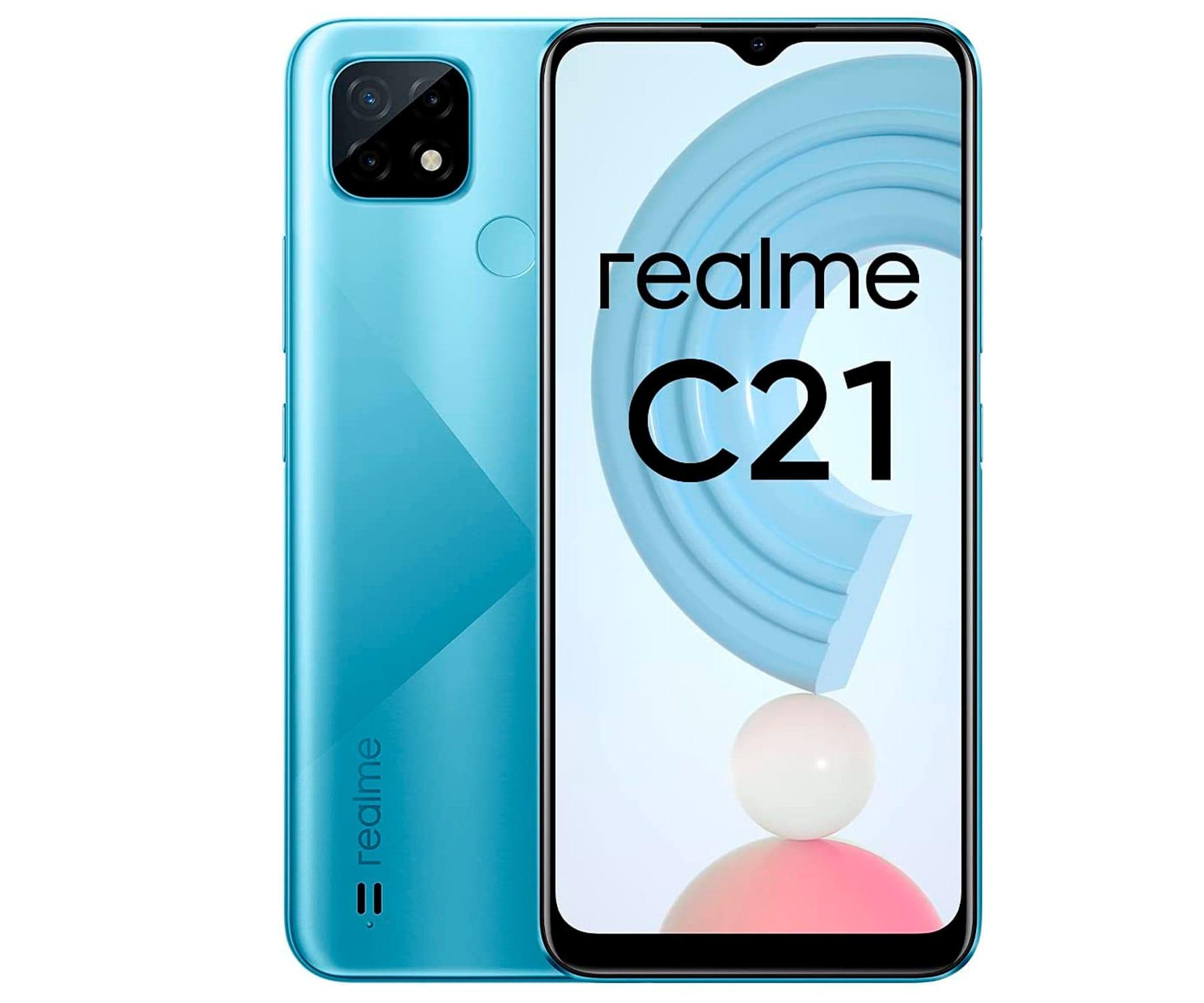 """Realme C21 Azul/4G/8-Core/3+32GB/6.5"""" HD+"""