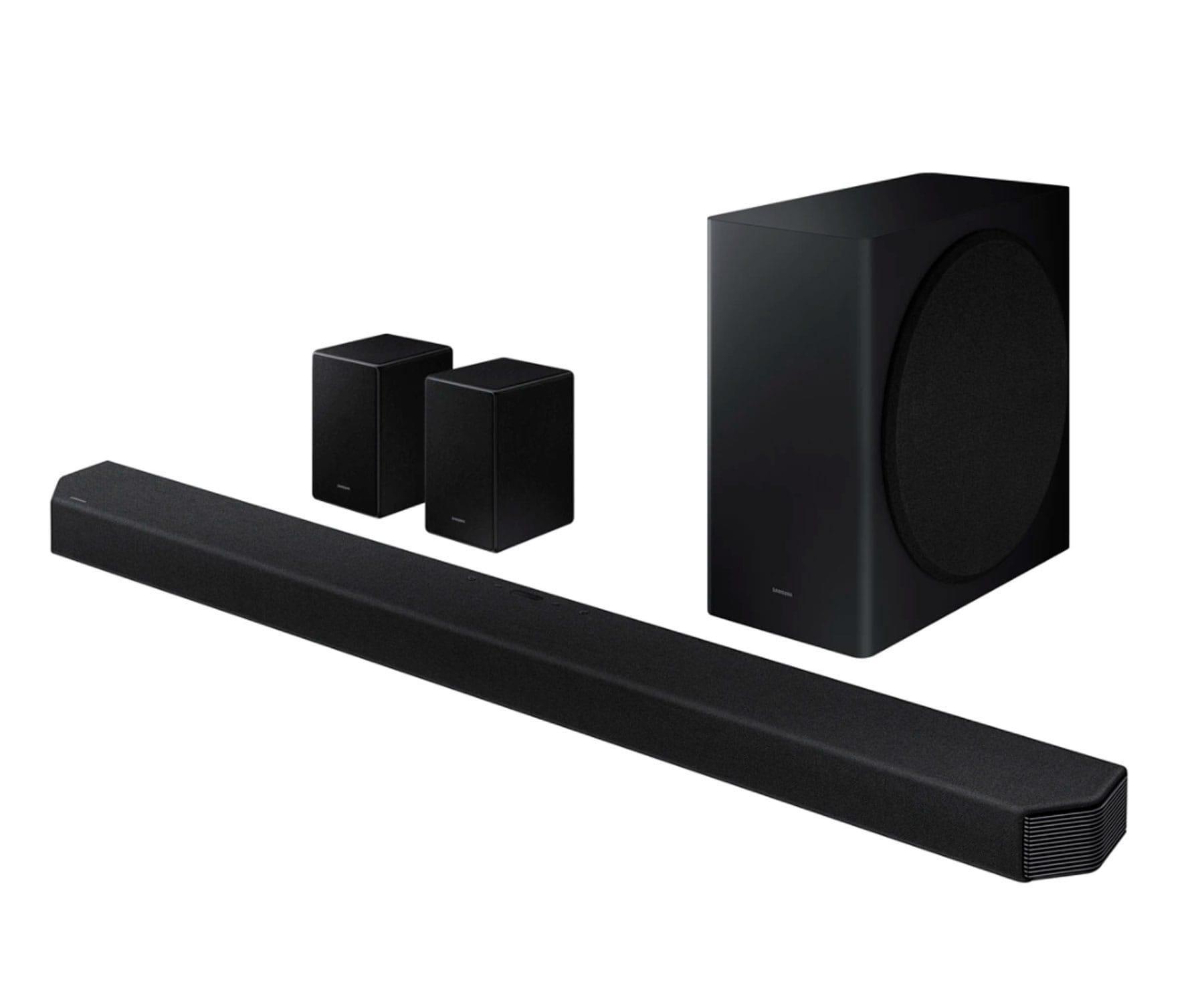 Samsung HW-Q950A/ZF Barra de sonido 11.1.4 canales/616W/Subwoofer/Q-Symphony/Dolby Atmos DTS:X/Altavoces traseros