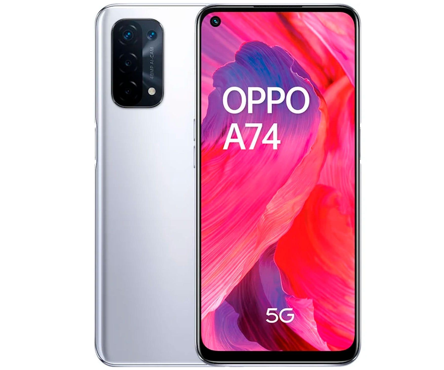Oppo A74 5G Plata 8core/6+128GB/6.5'' FHD+/Dual SIM