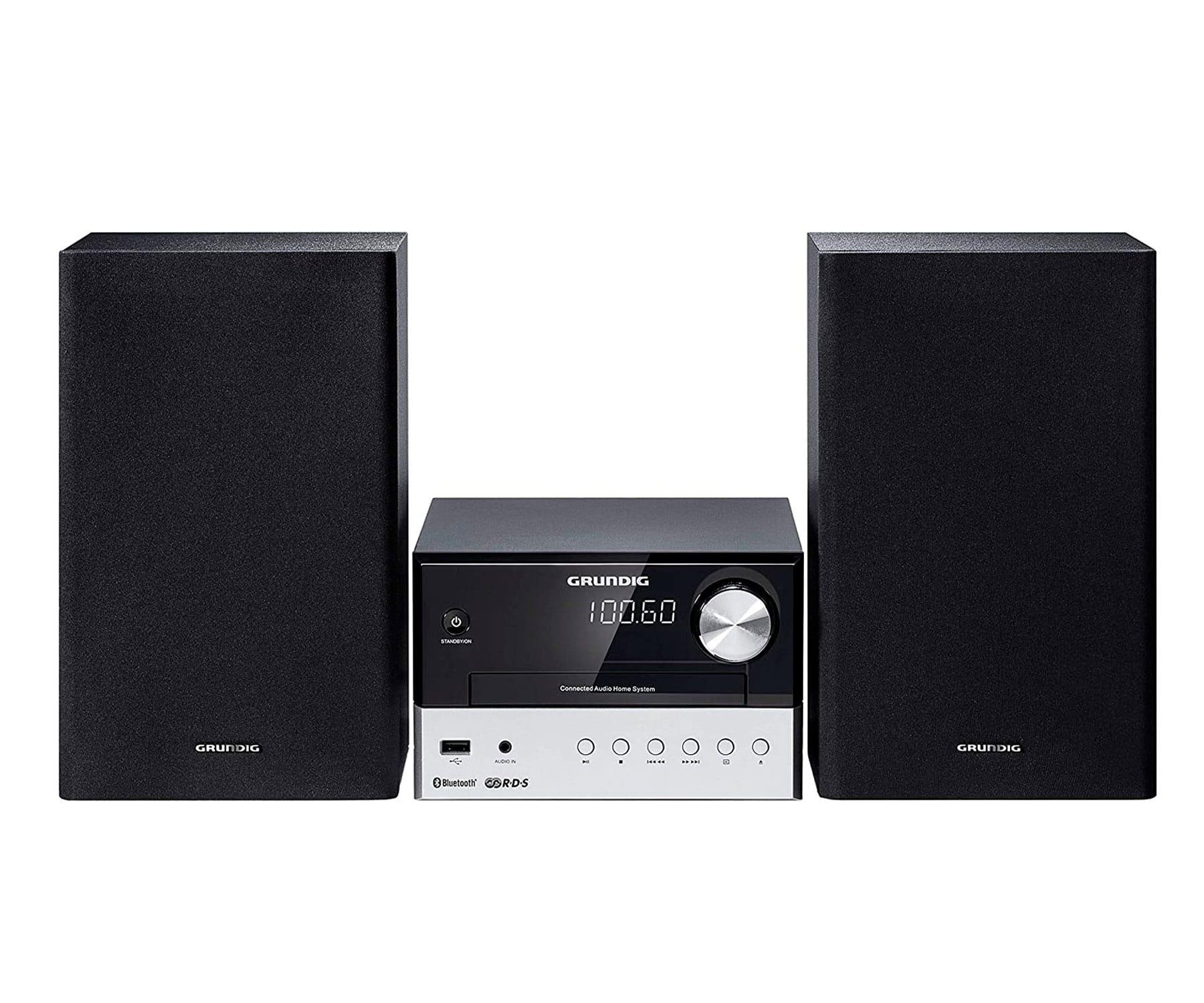 Grundig M1000BT Sistema de Audio HI-FI/30W RMS/Bluetooth/Reproductor USB/CD/Radio FM