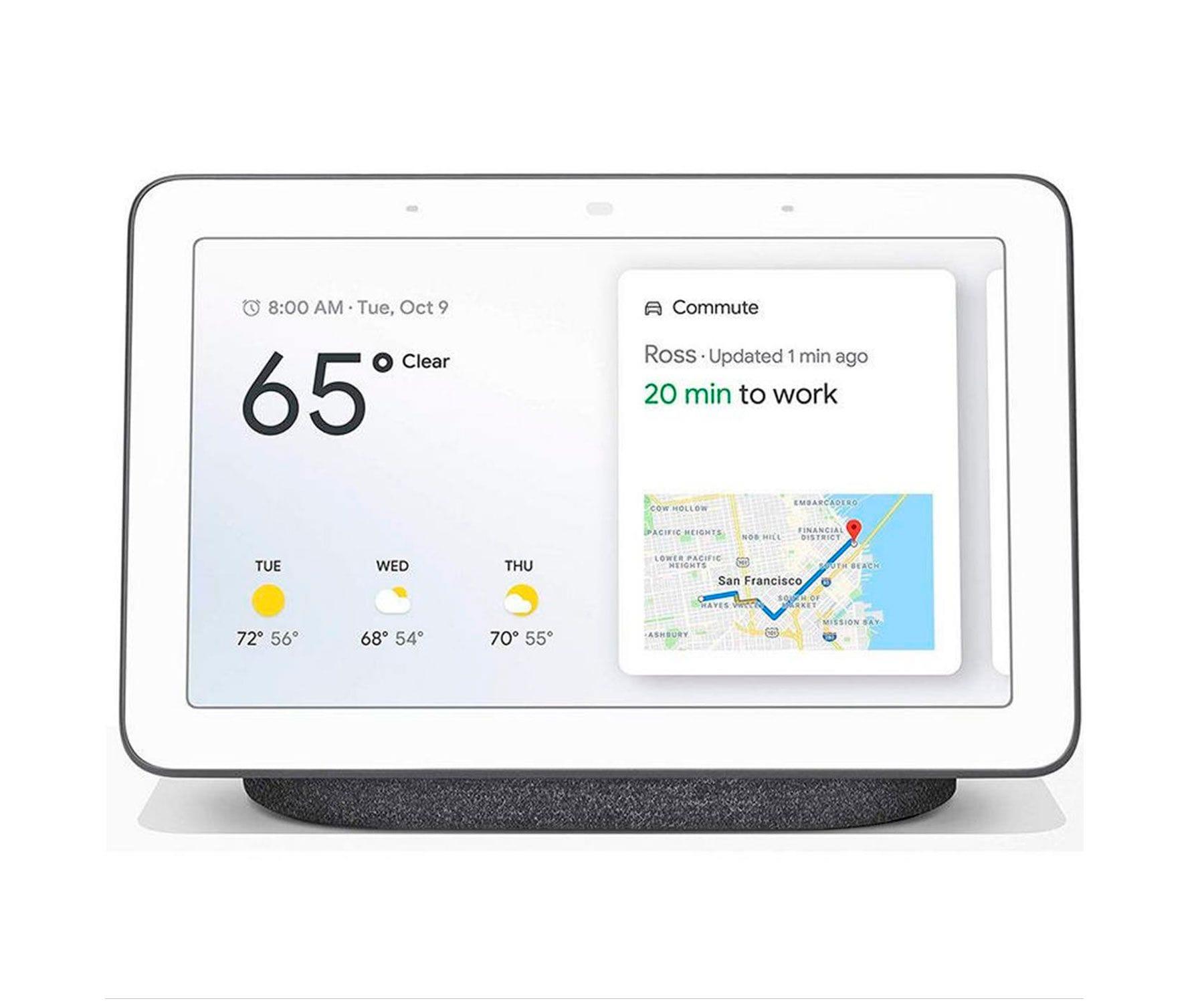 Google Nest Hub 2nd gen carbón (negro)/Pantalla táctil 7'' con altavoz Wifi/Asistente Google/Control de sueño*